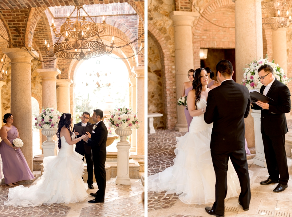 bella collina atrium wedding ceremony