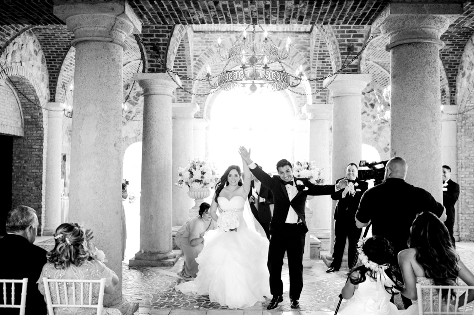 bella collina wedding ceremony in atrium