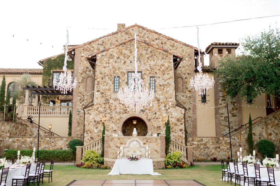 bella collina outdoor reception