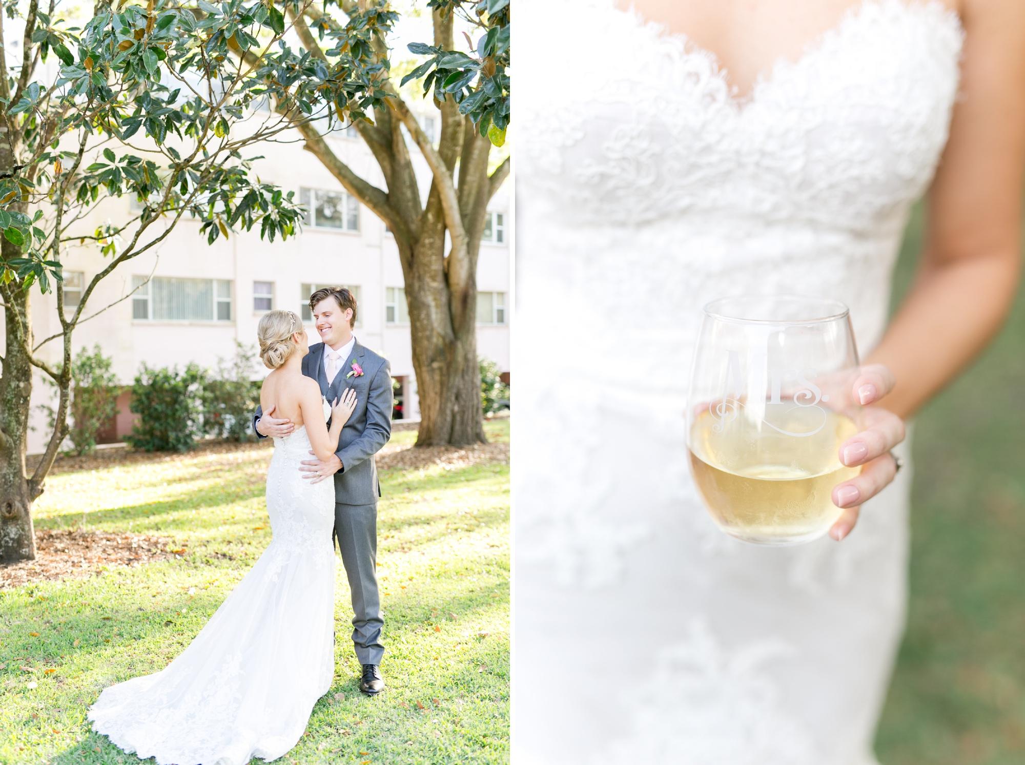 Mrs. stemless champagne glass