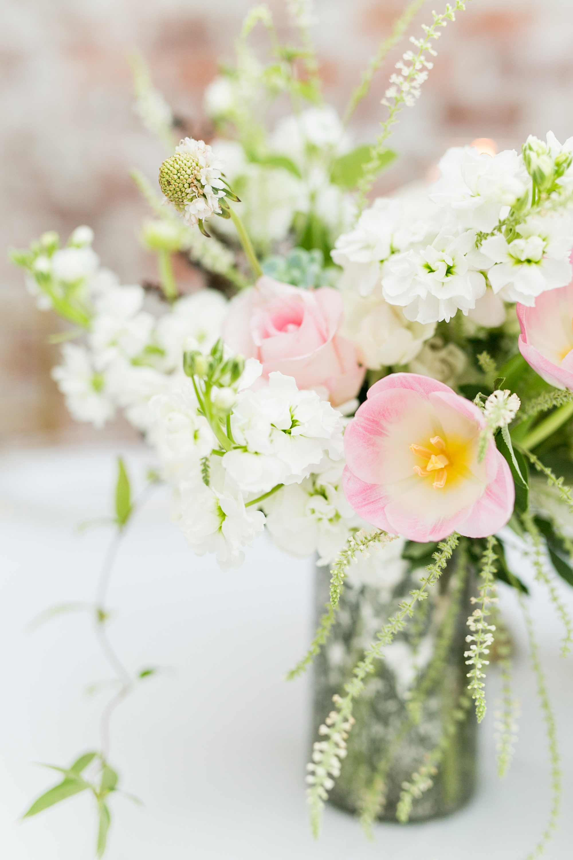 pastel flower reception decor
