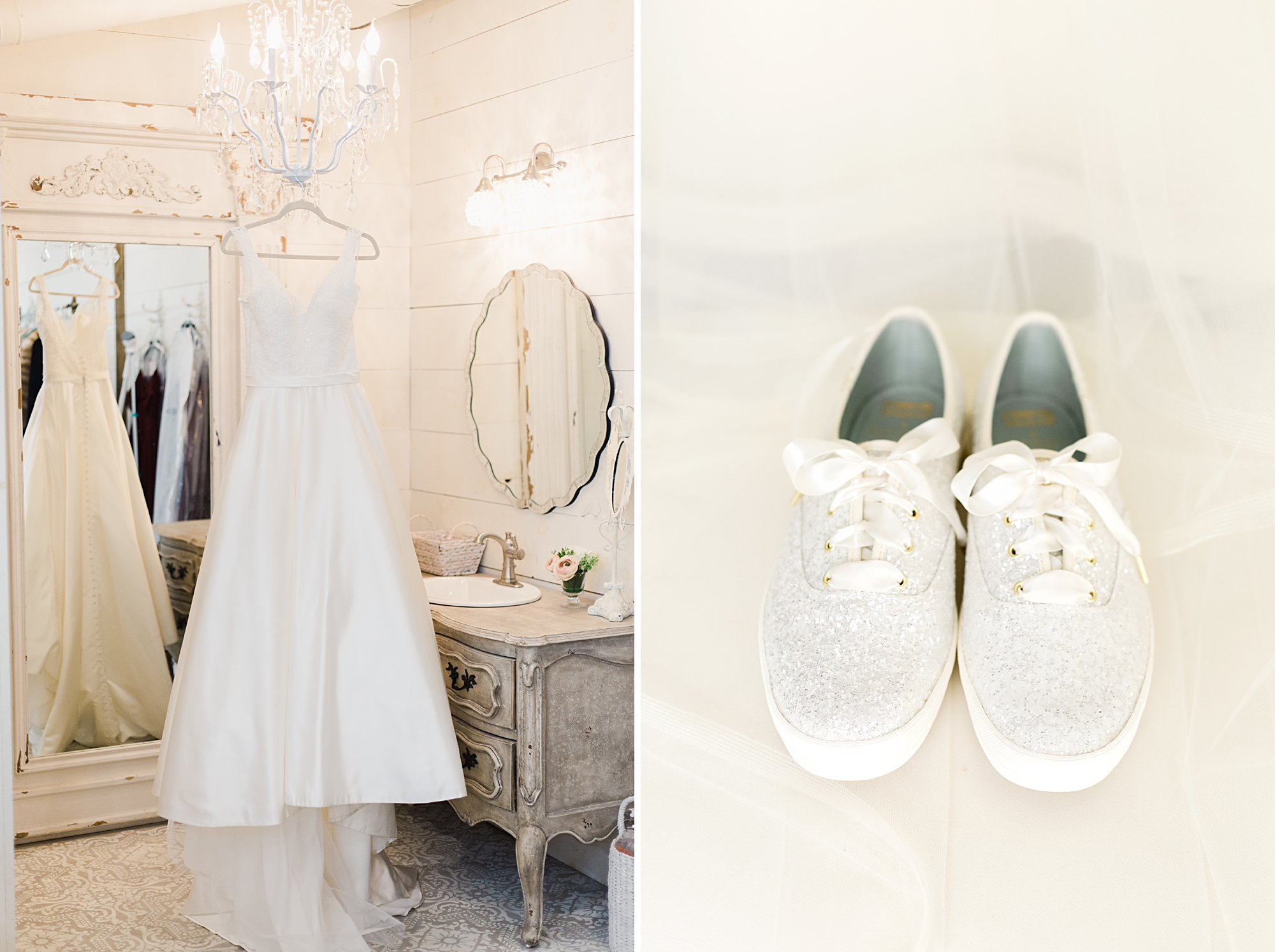 sparkly keds bridal shoes