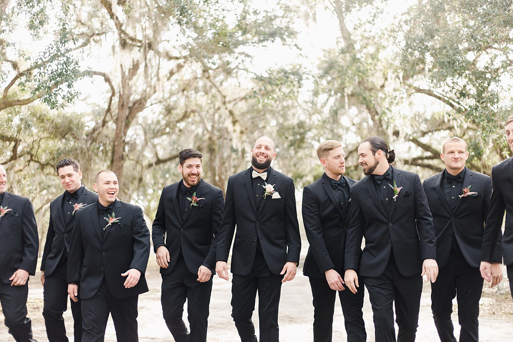 all black groomsmen attire