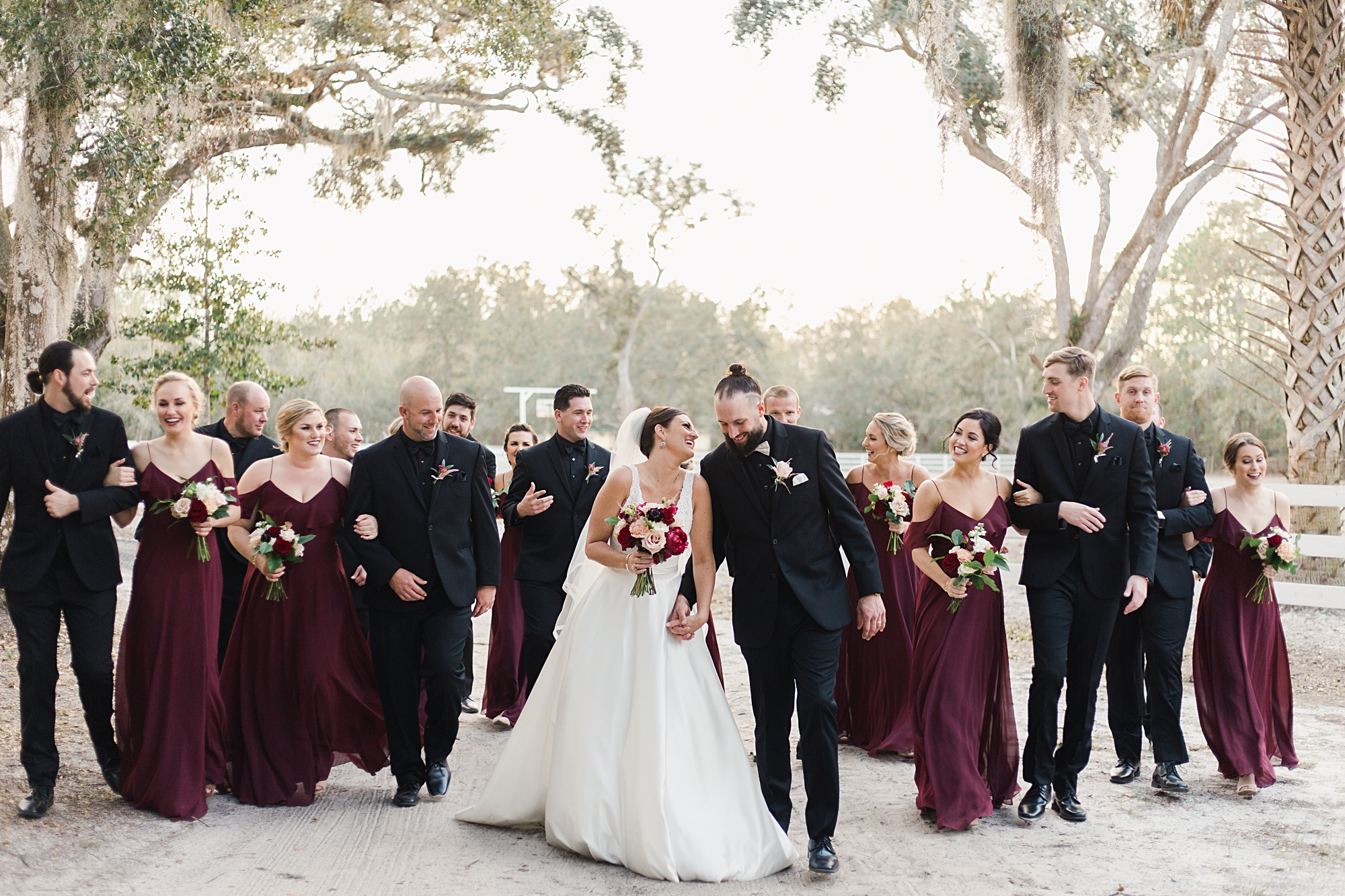 large wedding party photos
