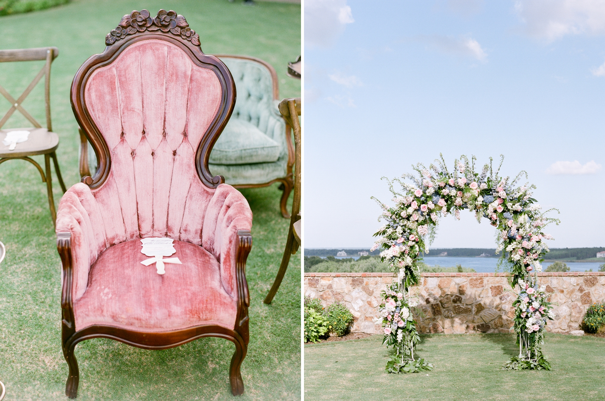 vintage furniture for ceremony