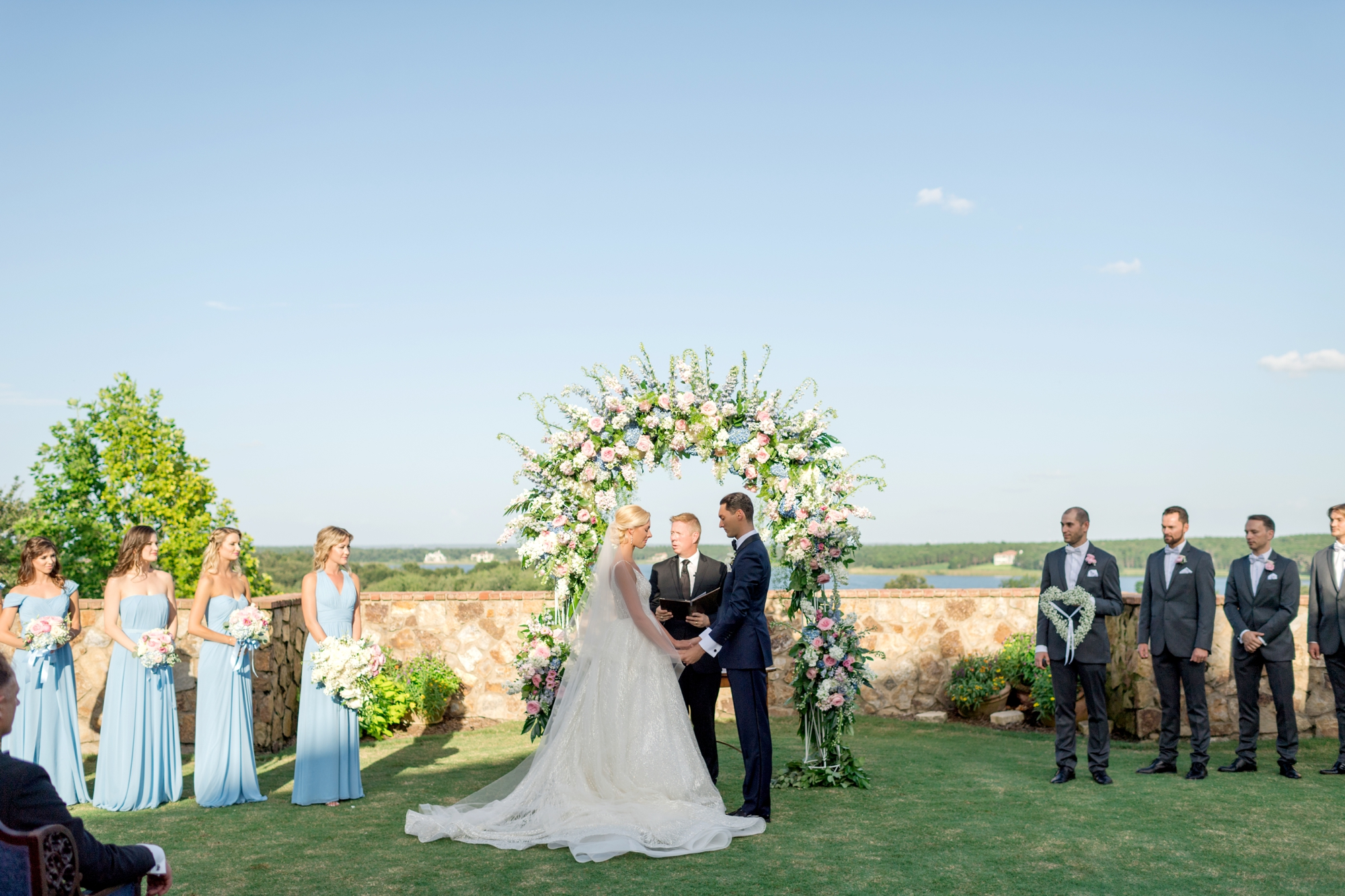 bella collina lawn wedding ceremony