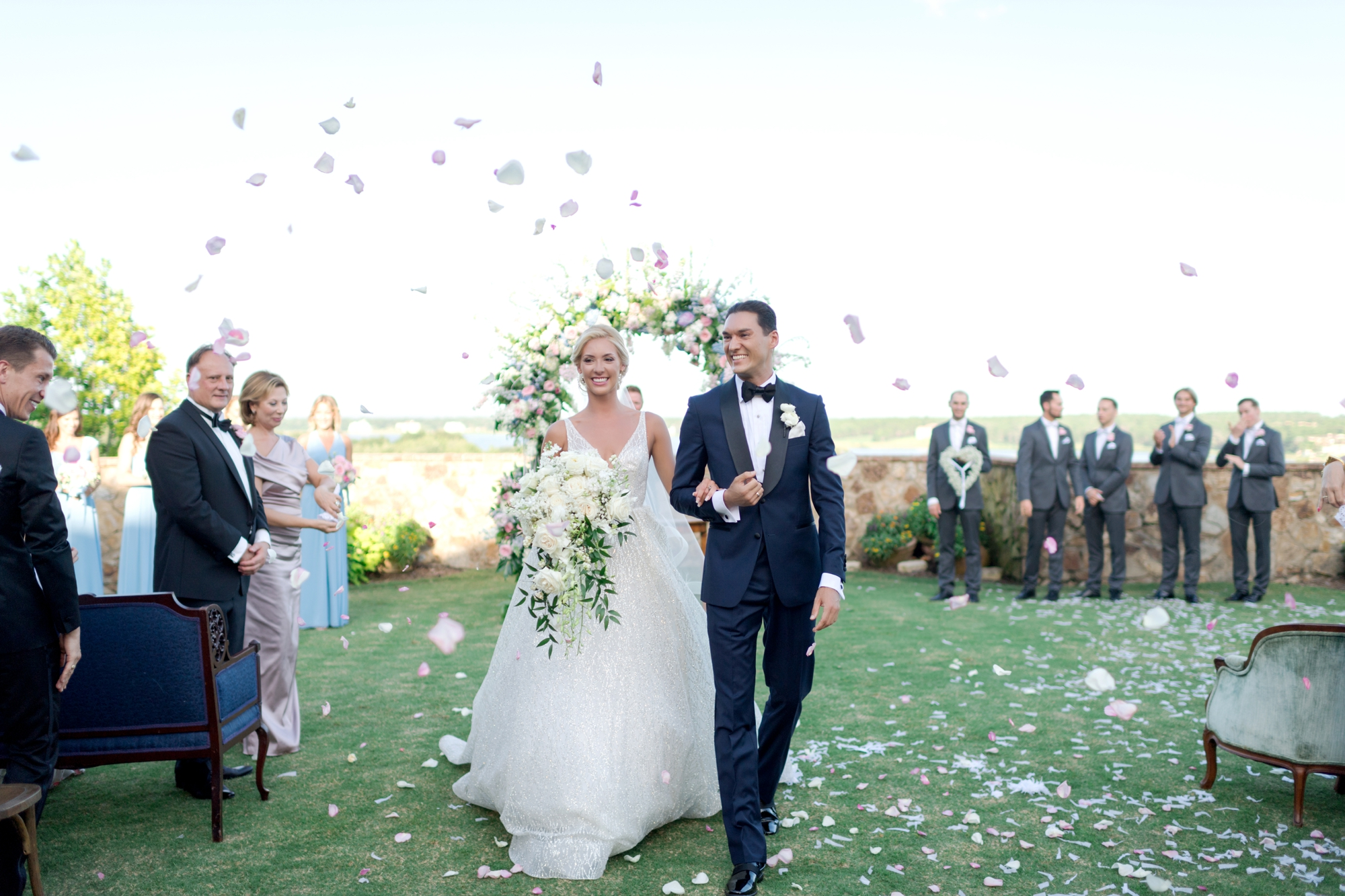 confetti toss at ceremony