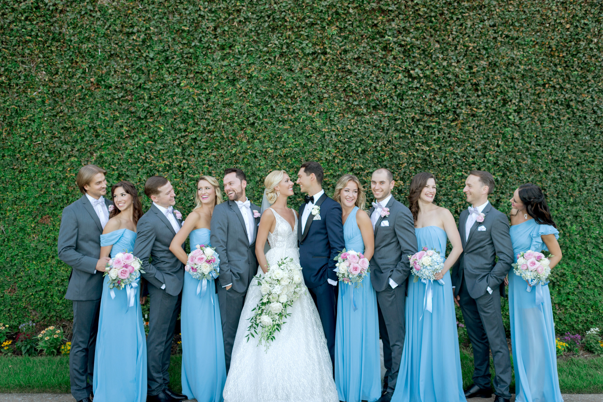 blue wedding party