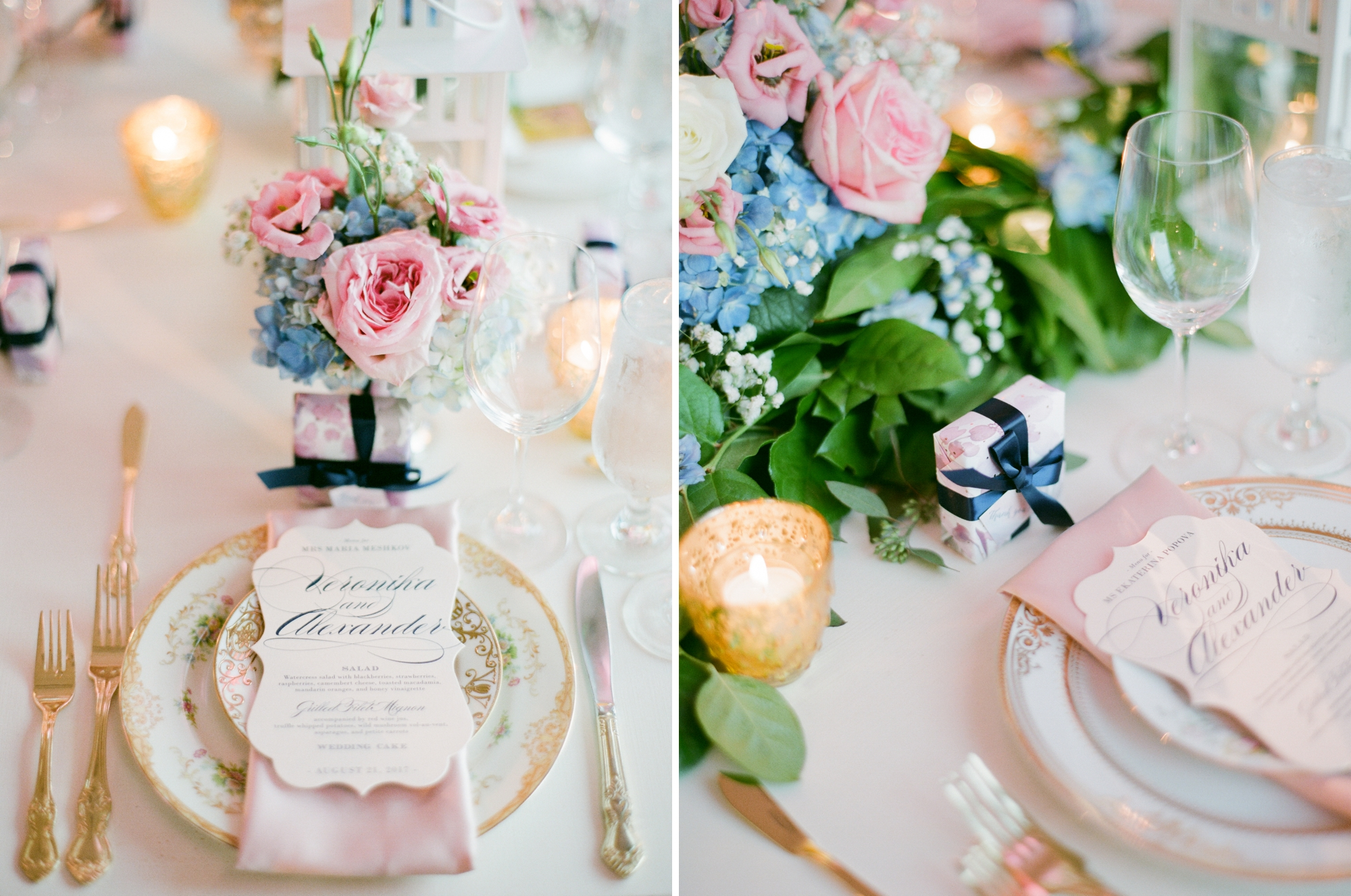 vintage reception place setting