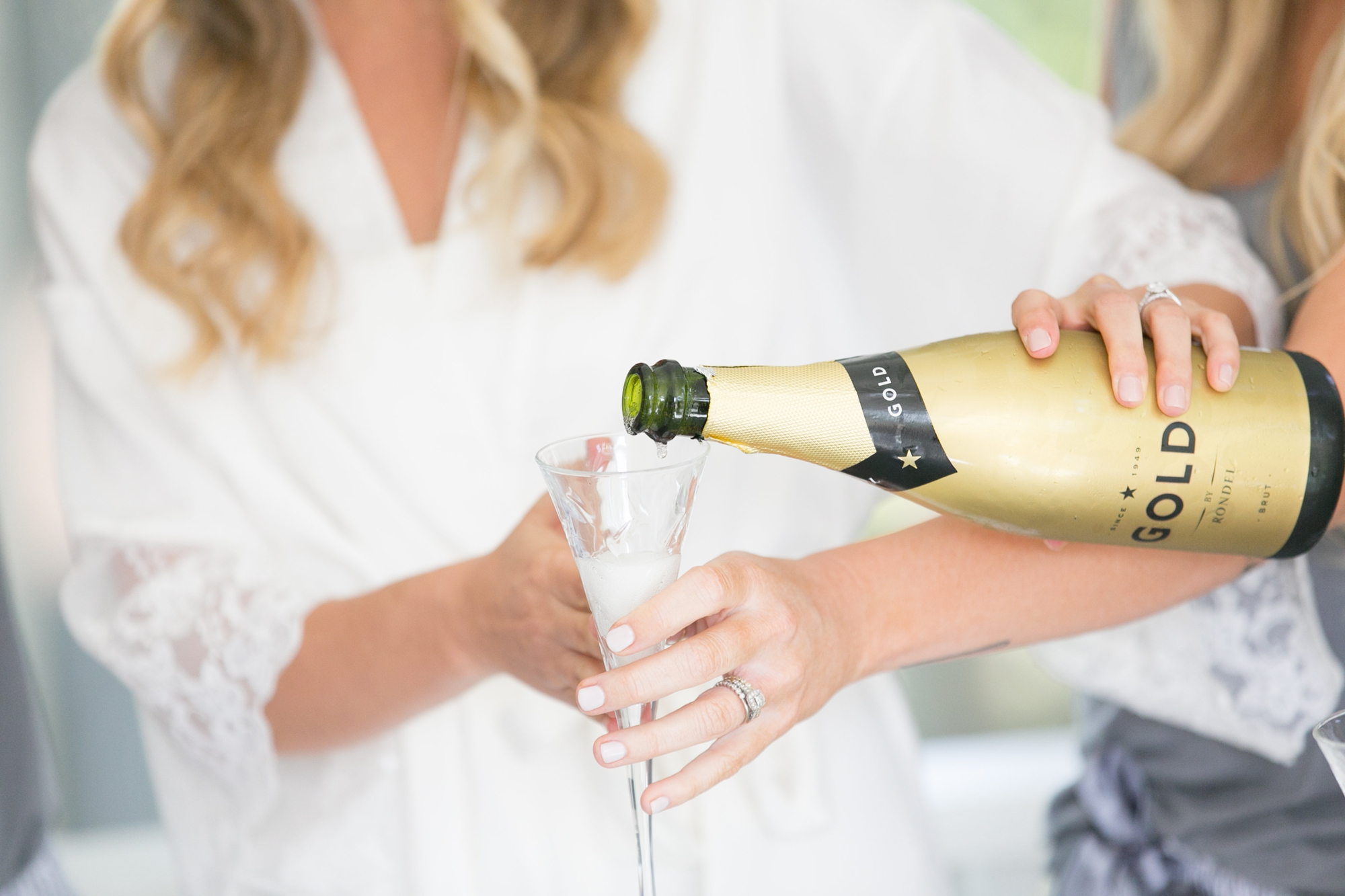 bridal champagne glass