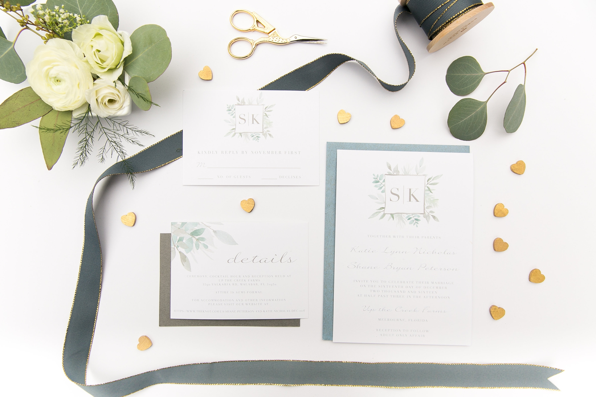 classic monogrammed wedding invitations