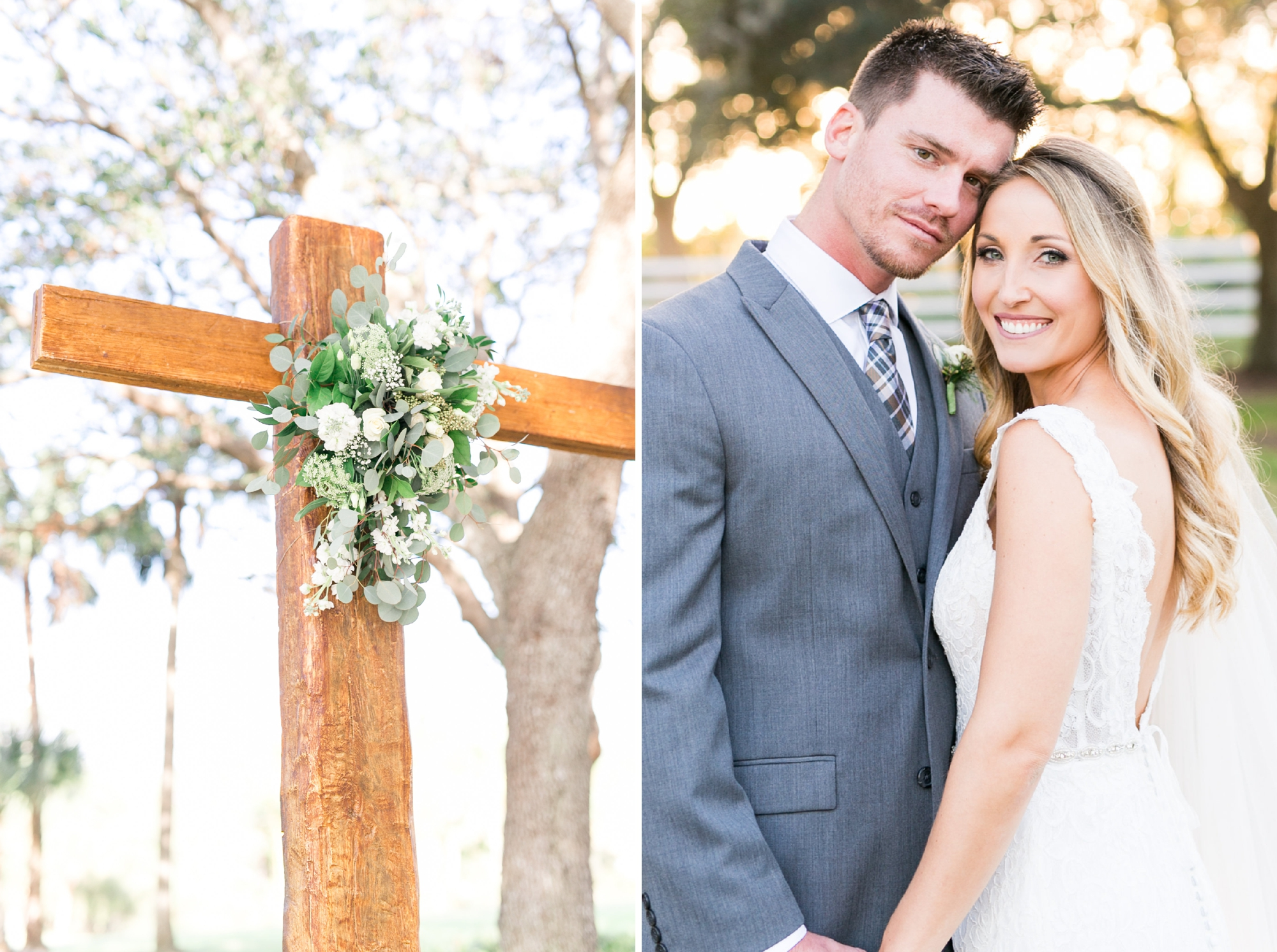 wooden cross for wedding ceremony