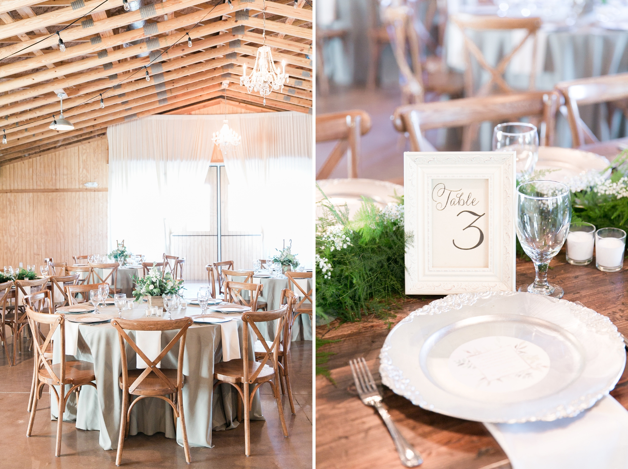 rustic reception decor for wedding