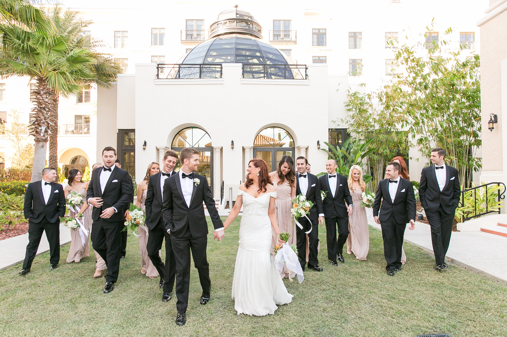 wedding party at alfond inn
