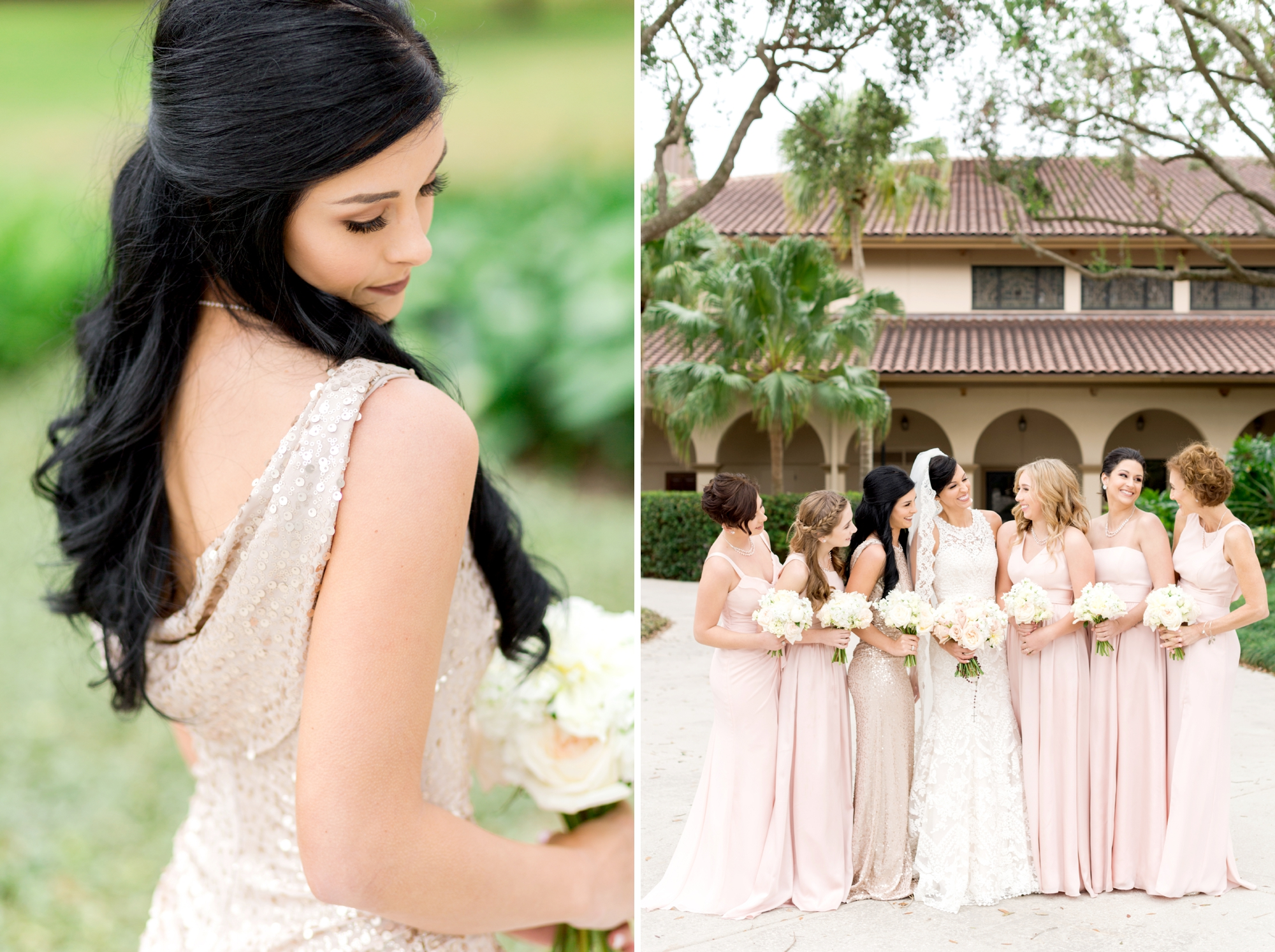 mix and match bridesmaids gowns