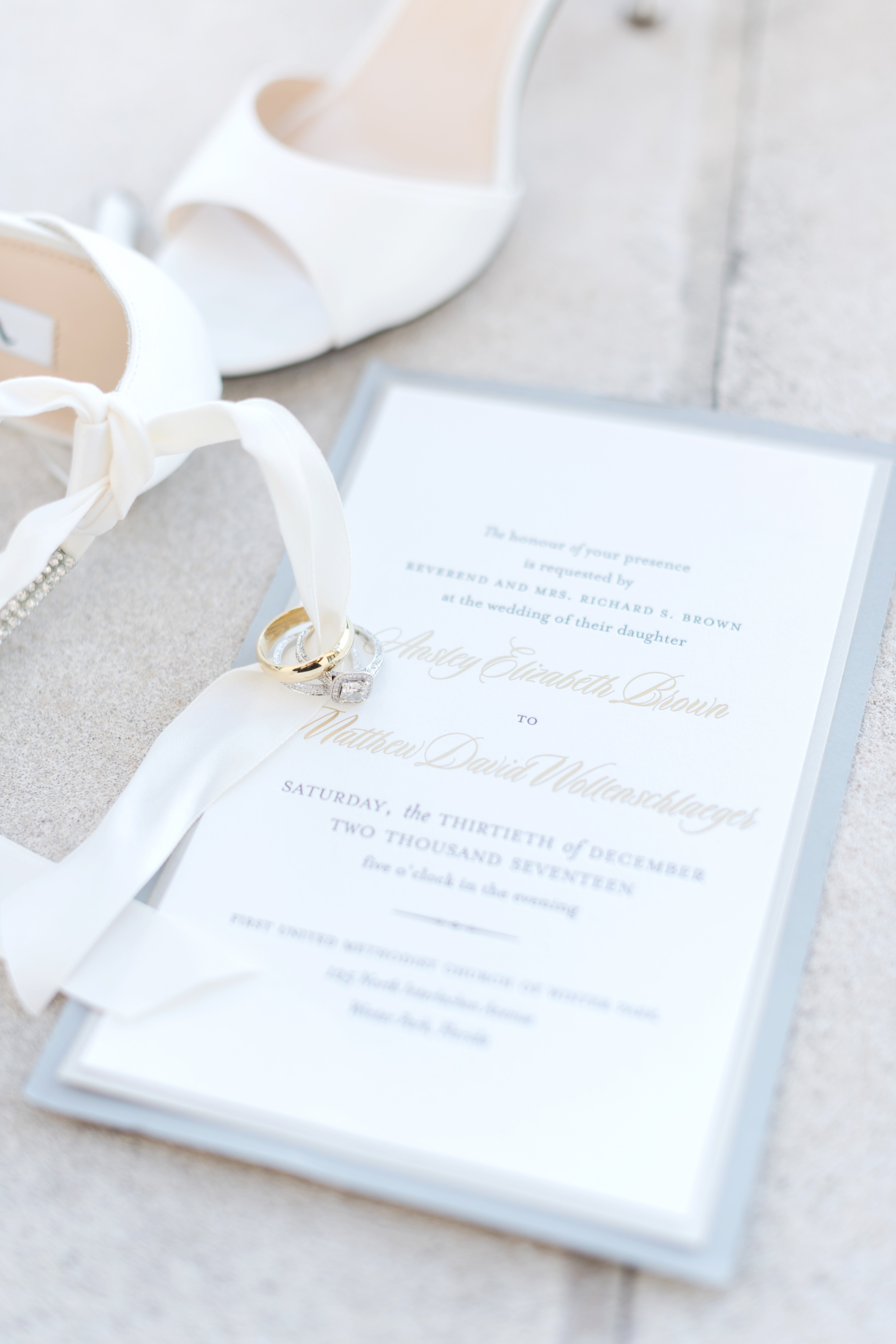 silver and gold winter wedding invitations