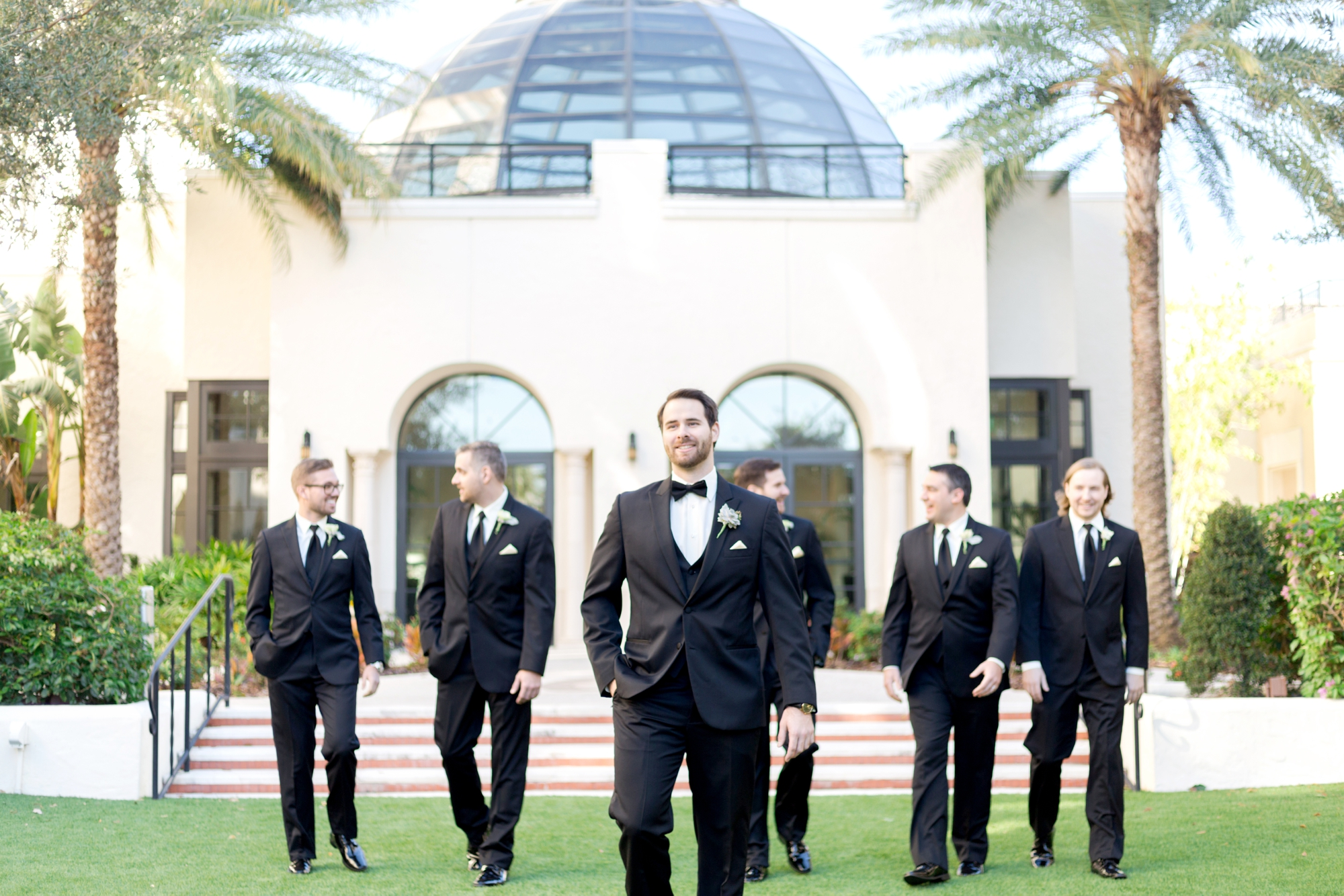 groomsmen photos on wedding day