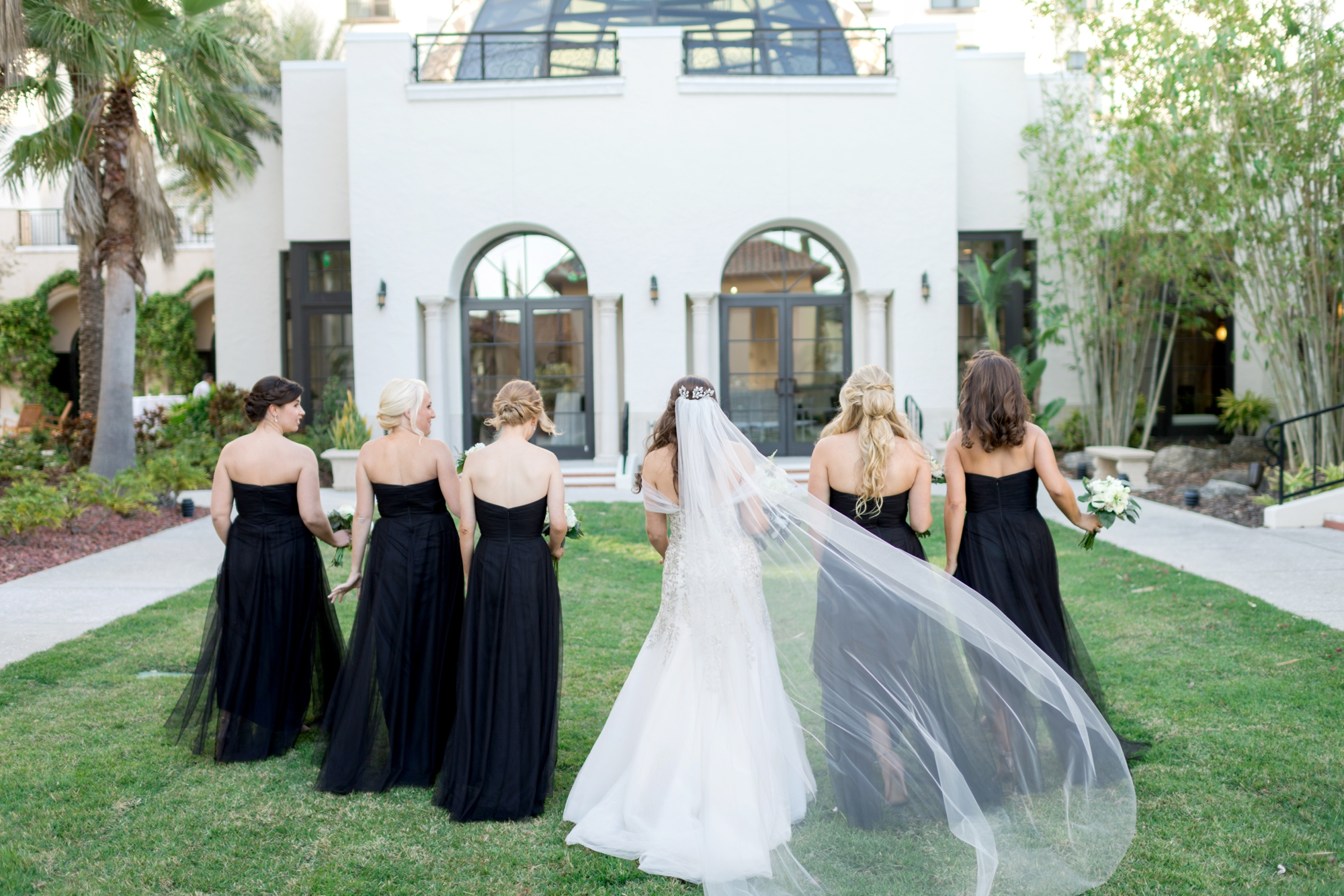 black tie wedding bridesmaids