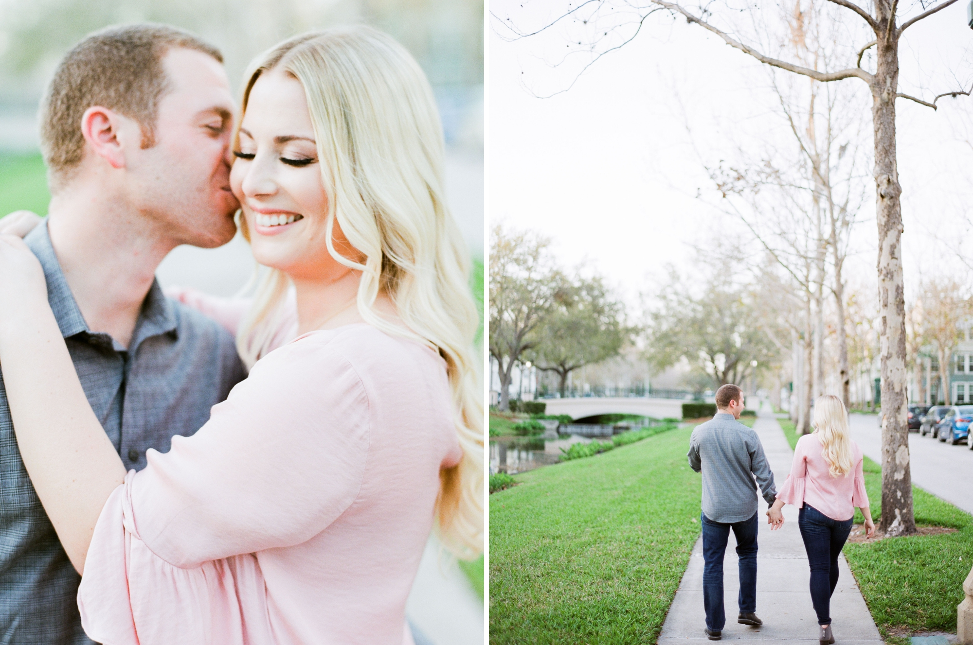 romantic engagement session on film