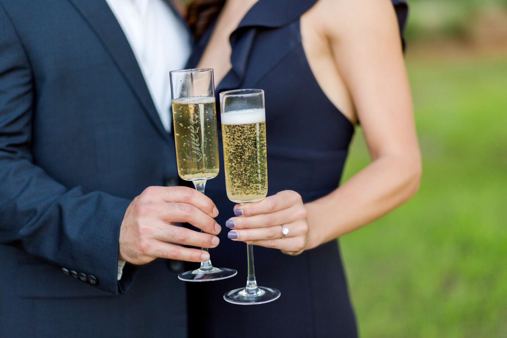 Champagne Toast Engagement