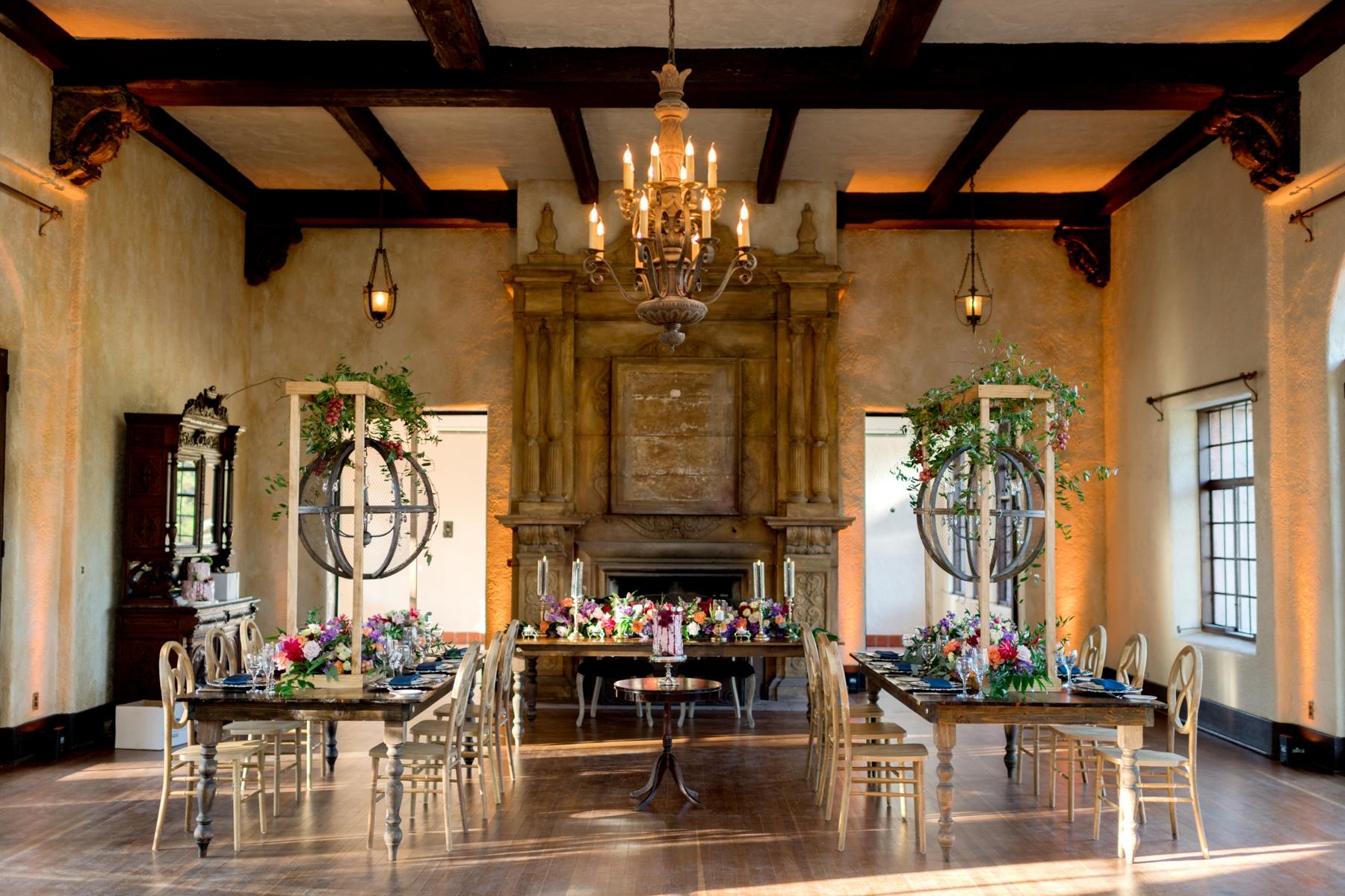 ballroom reception at howey mansion