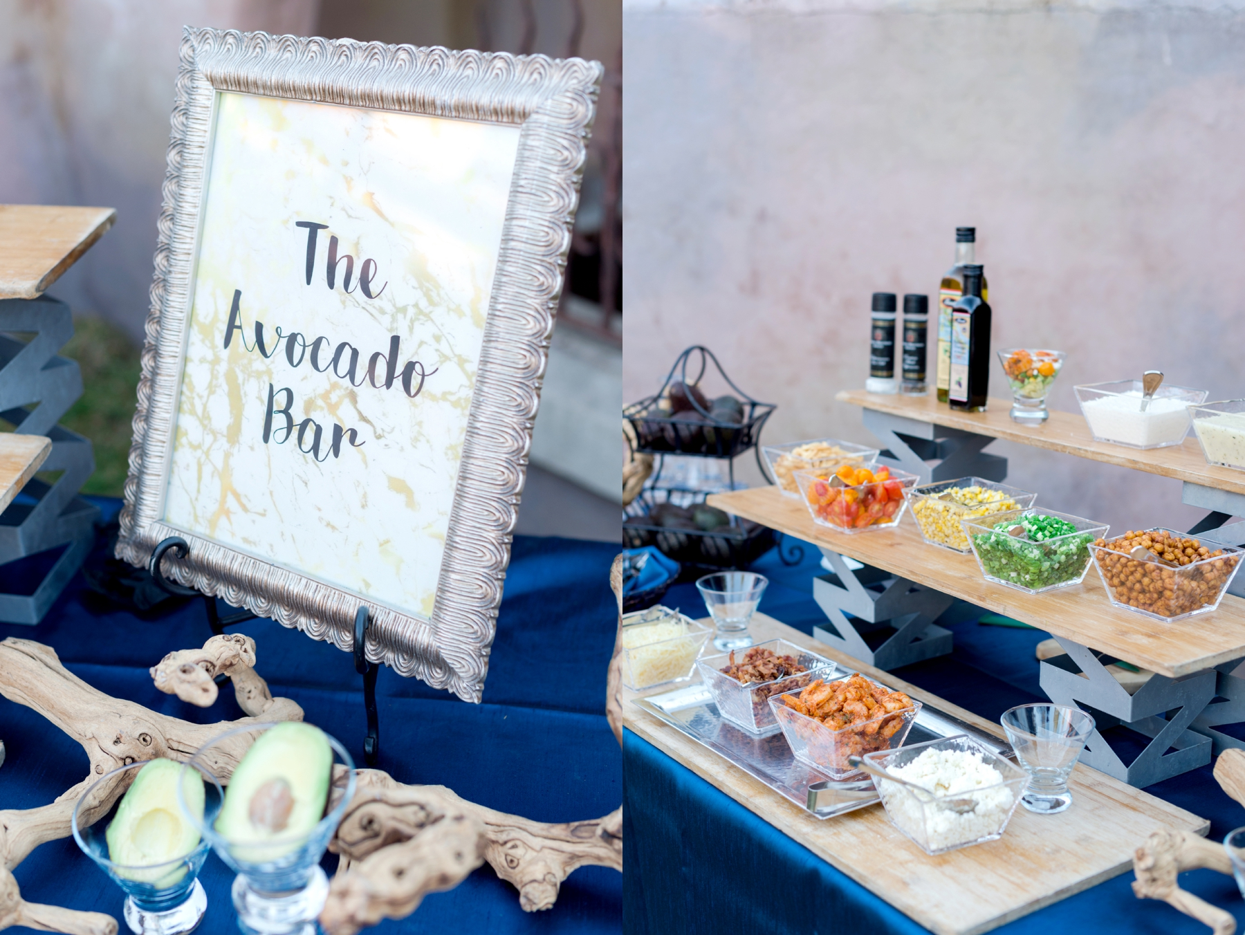 wedding catering avocado bar