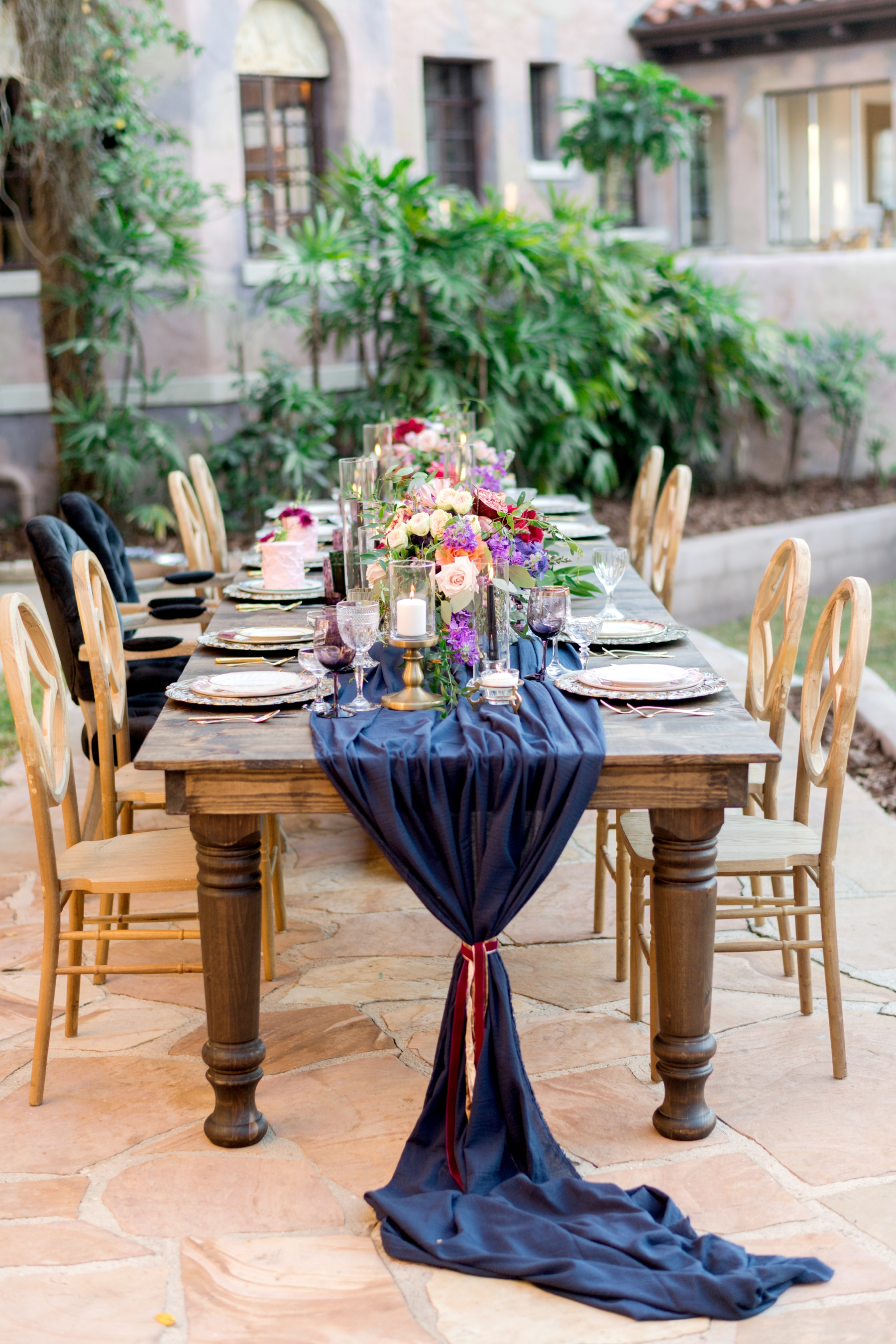 outdoor reception at howey mansion