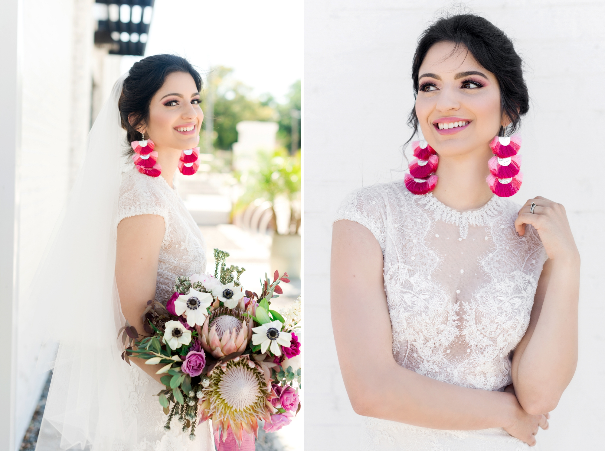tassle earrings for wedding