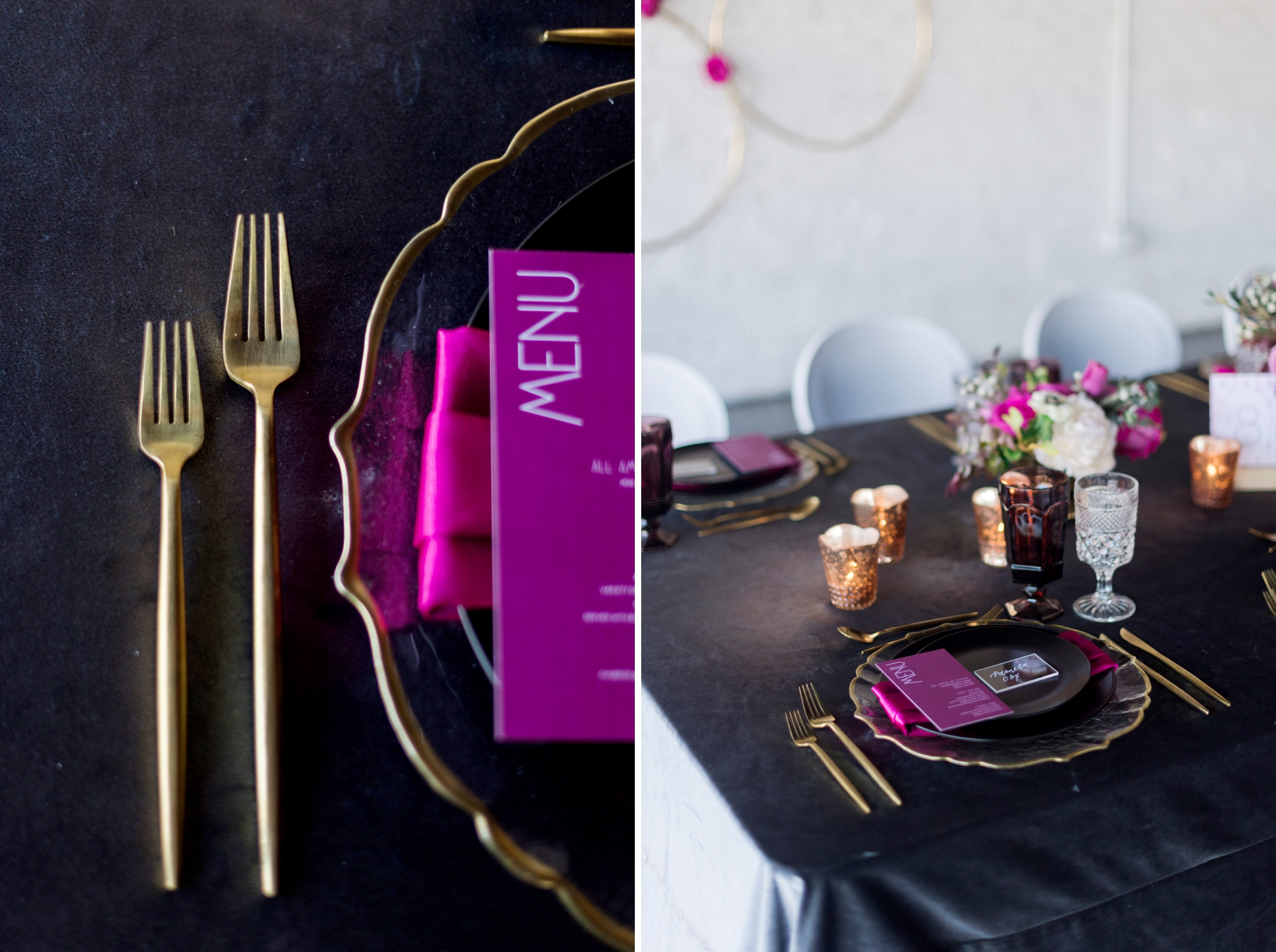 gold flatware for wedding