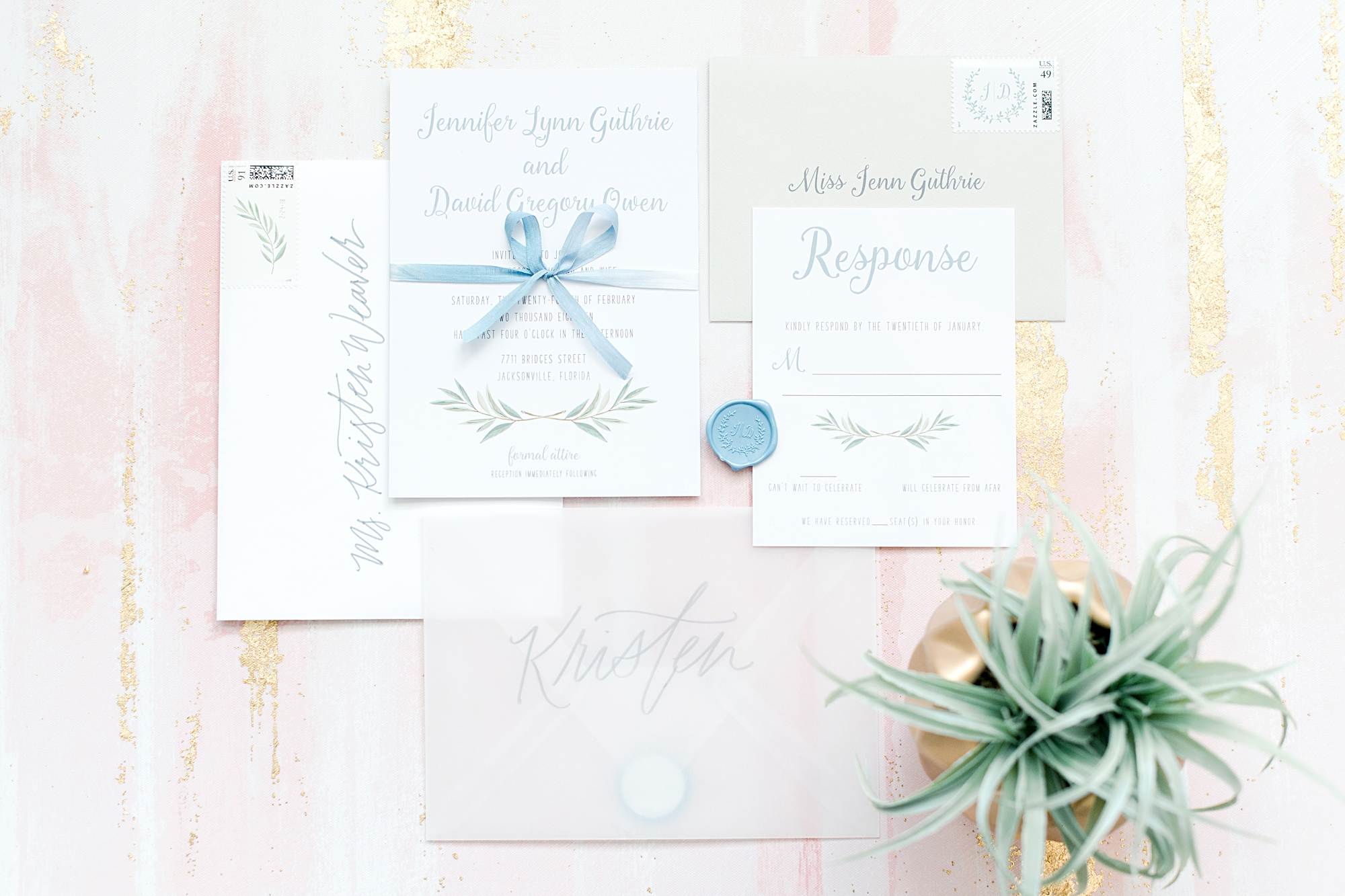 watercolor stationery