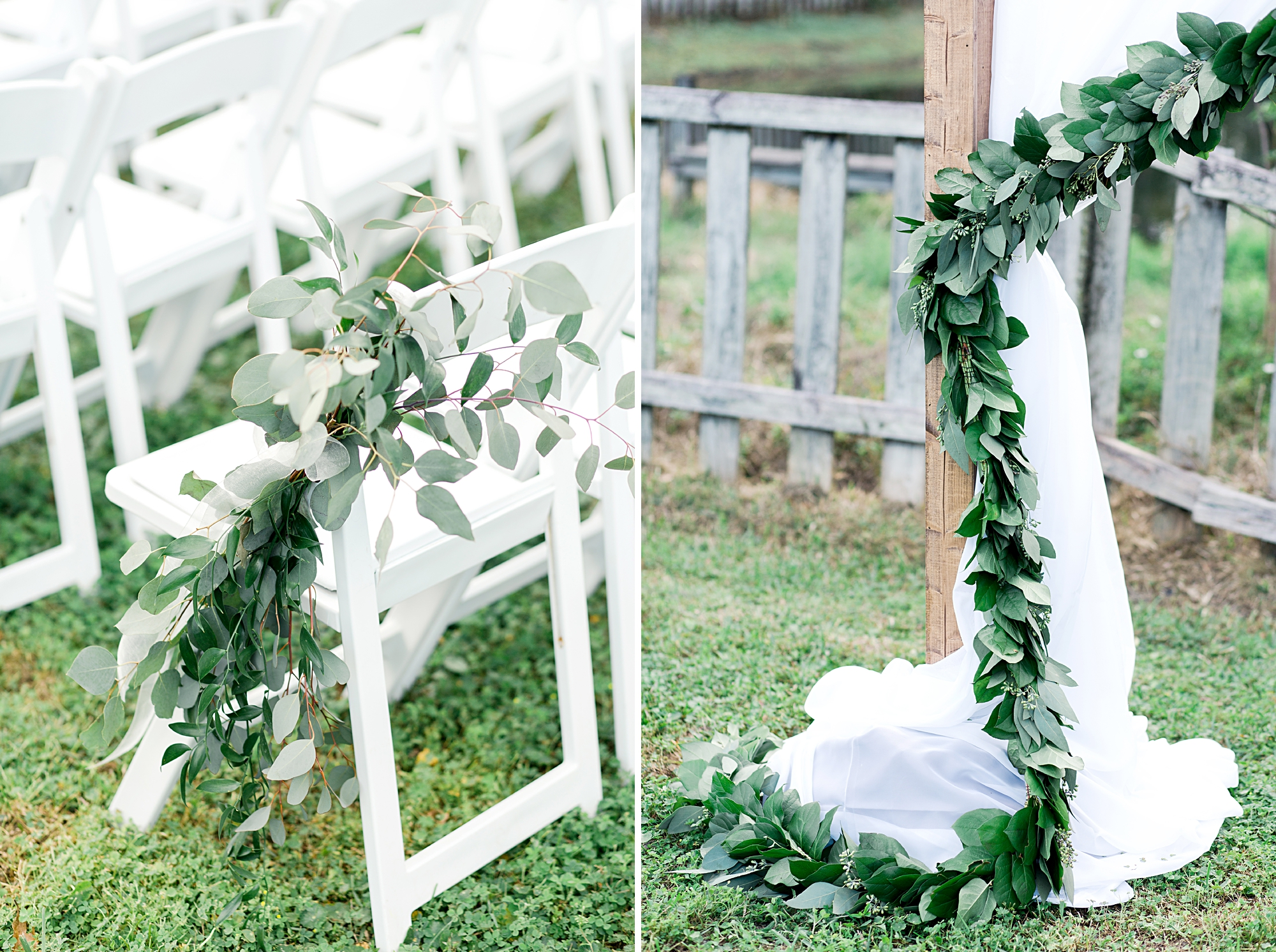 eucalyptus vines at wedding
