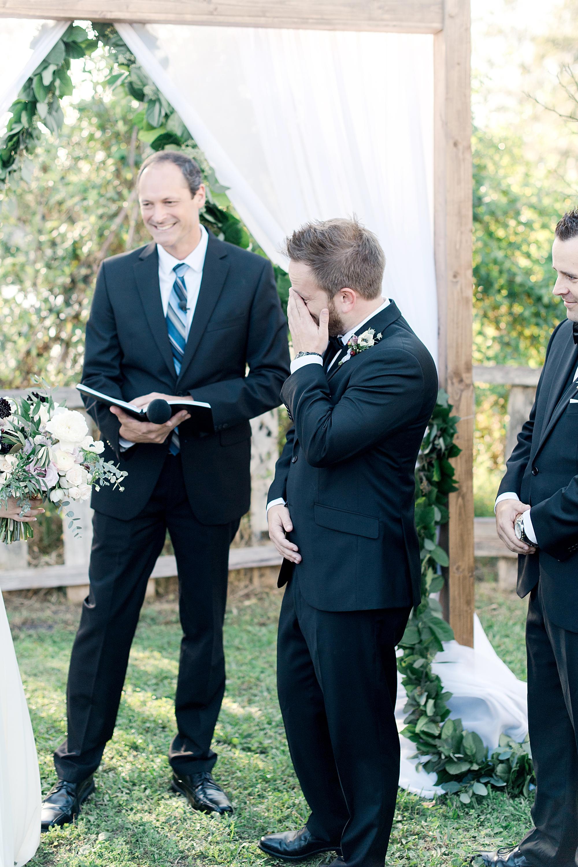 groom cries
