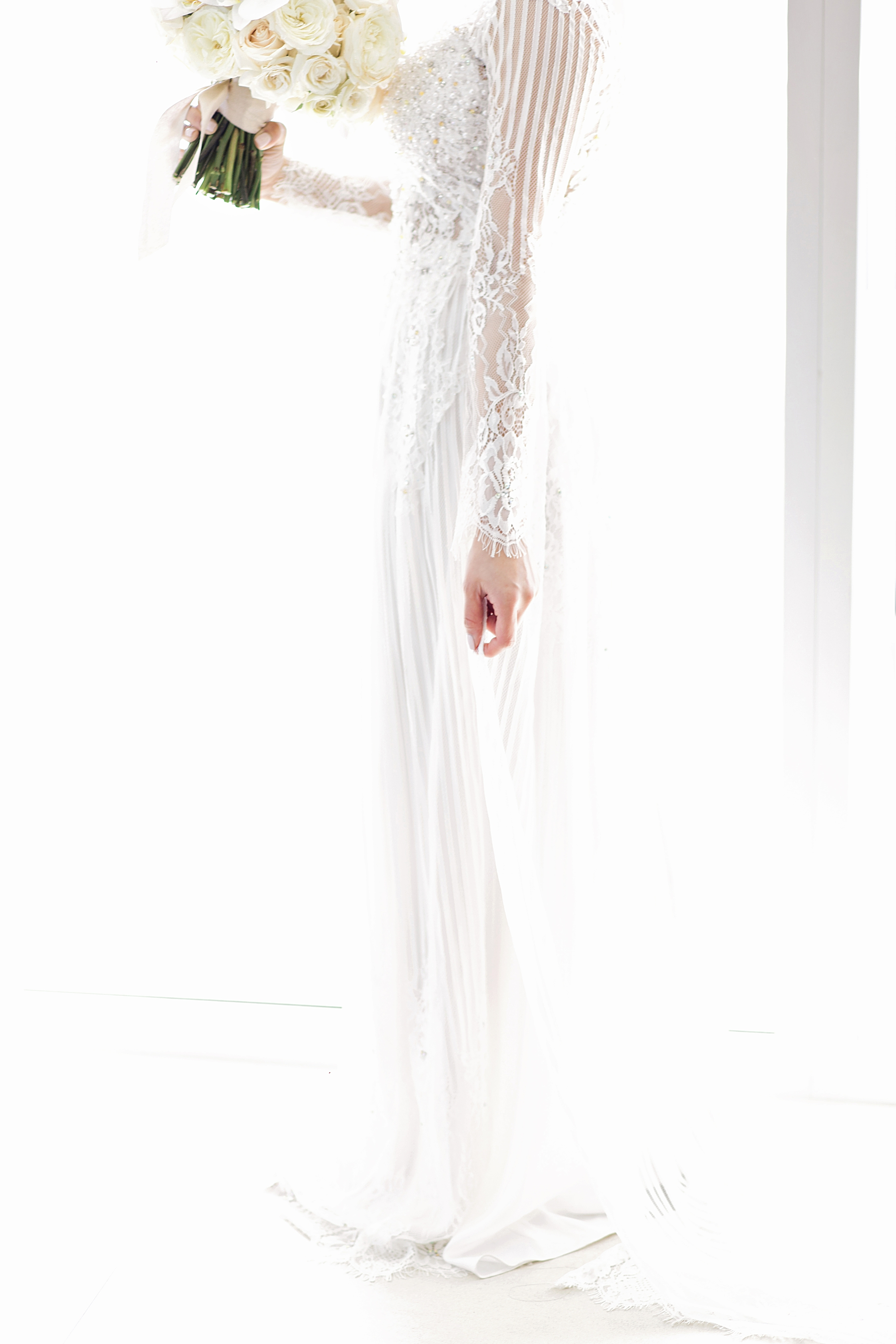 ao dai white wedding gown