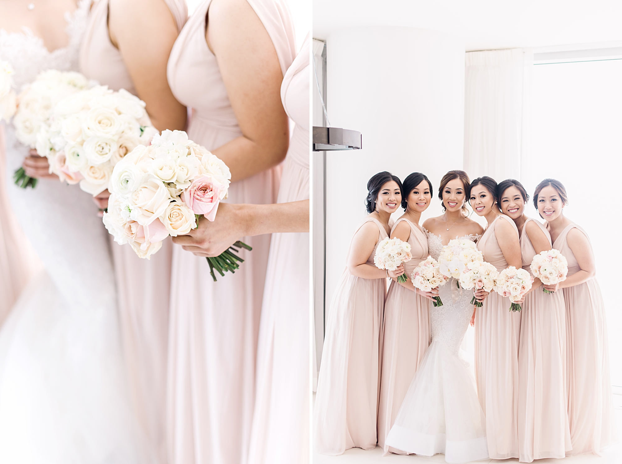 pink bridesmaids dresses - miami wedding