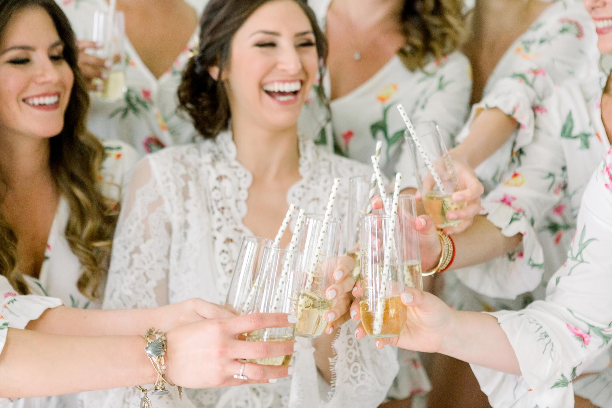 polka dot paper straws champagne toast