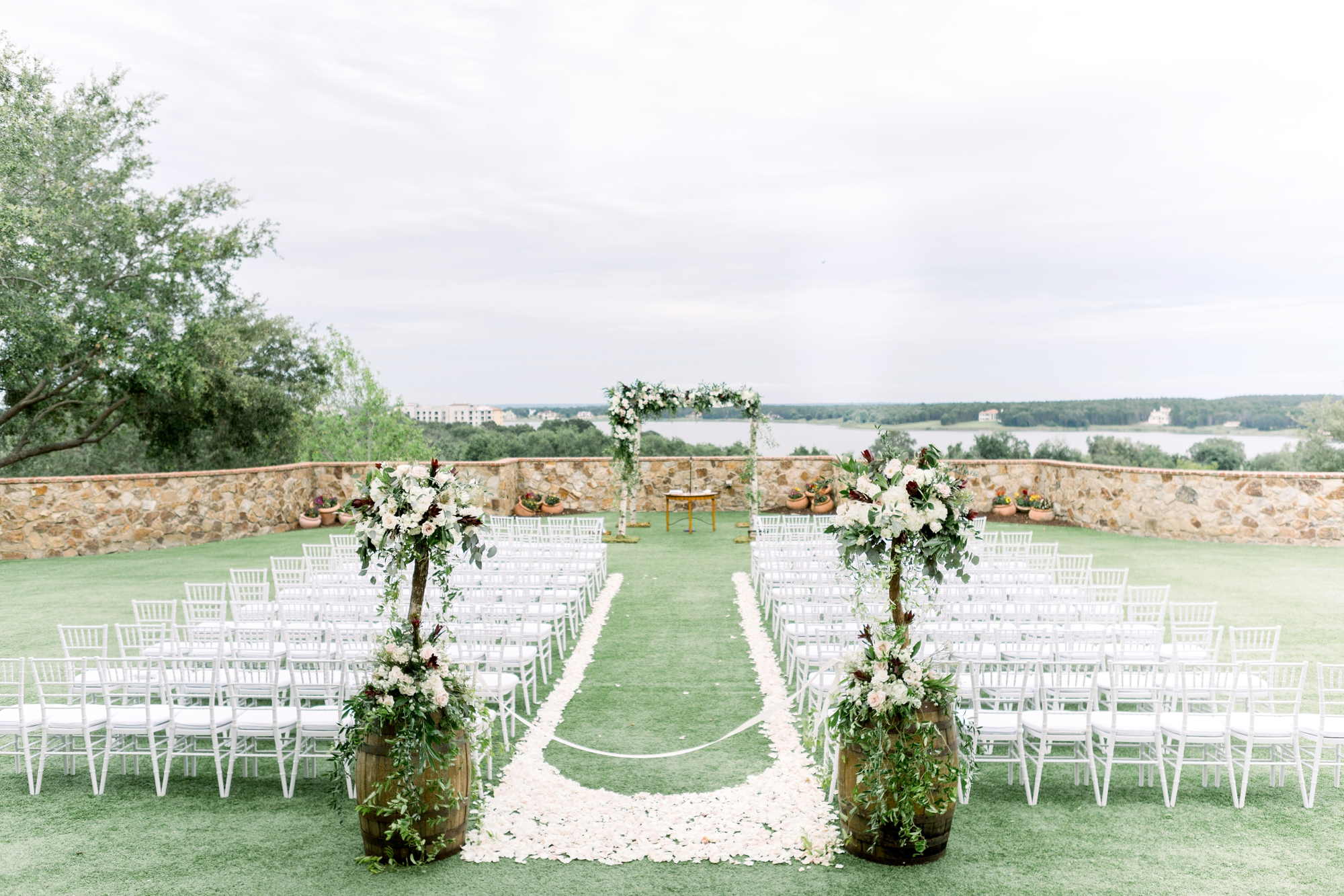 bella collina lawn ceremony for jewish wedding