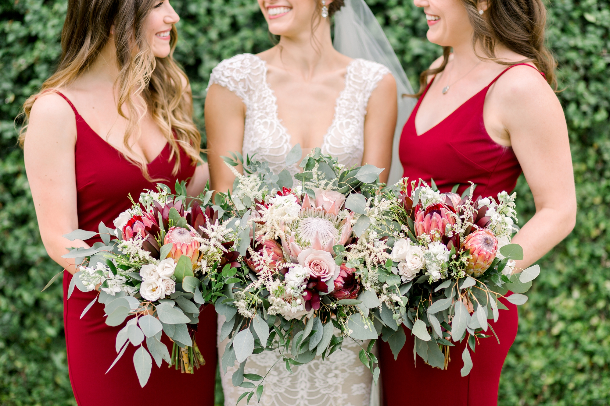 best bouquets with greenery and protea