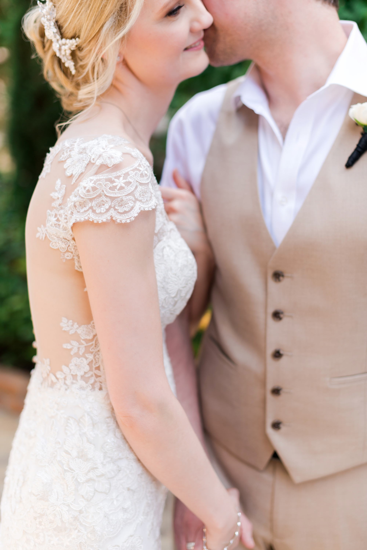bride and groom detail shot