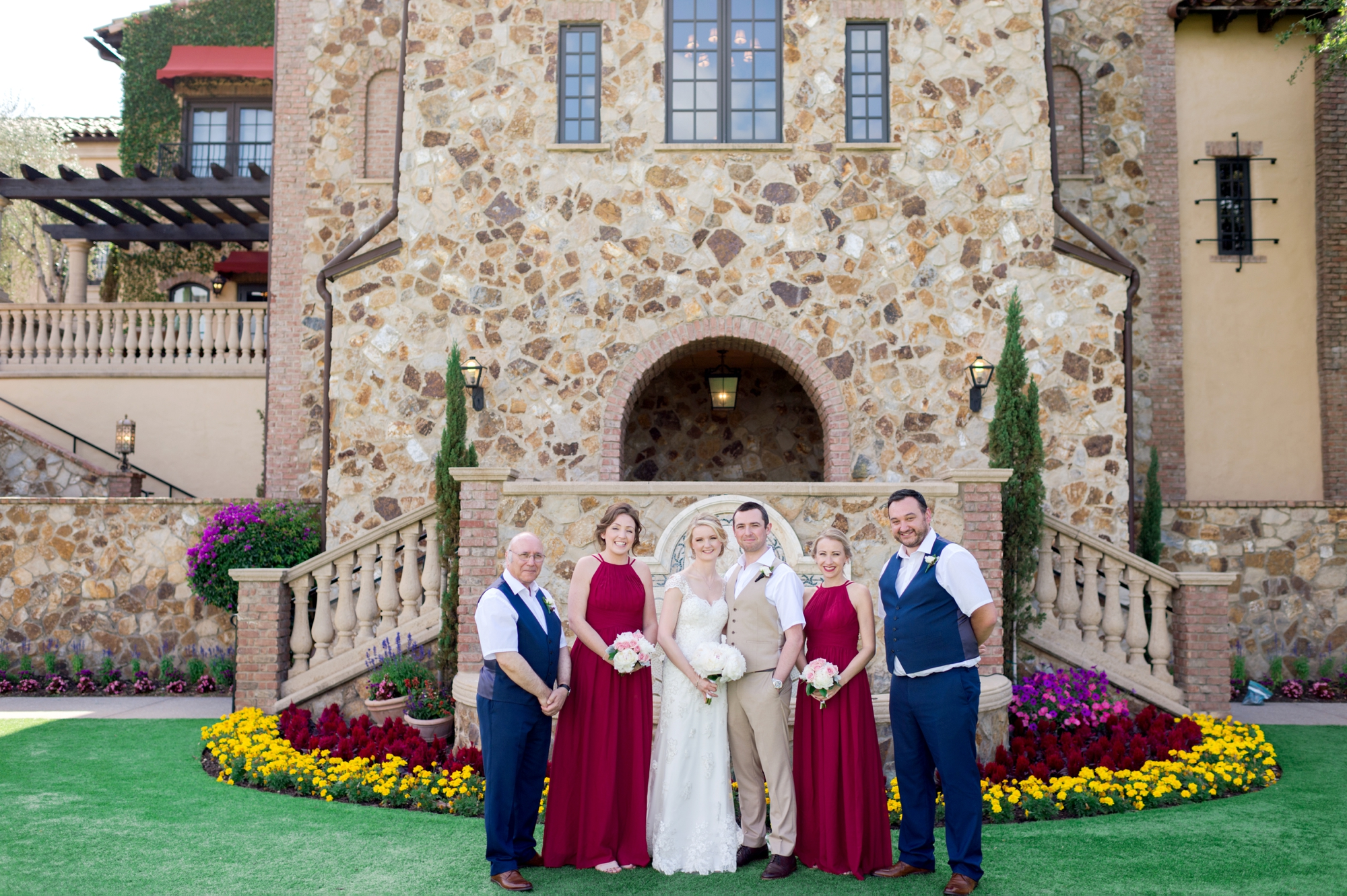 Red and Navy wedding party
