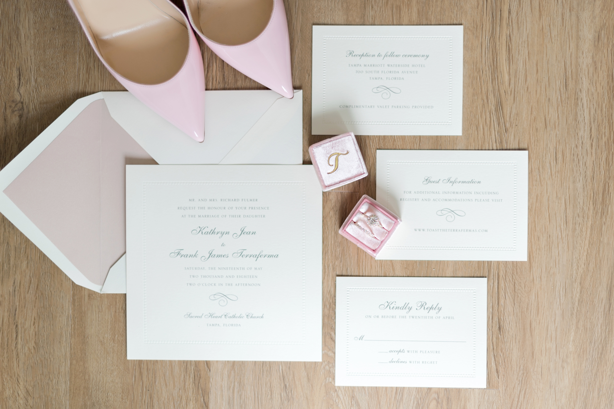 elegant wedding stationery suite