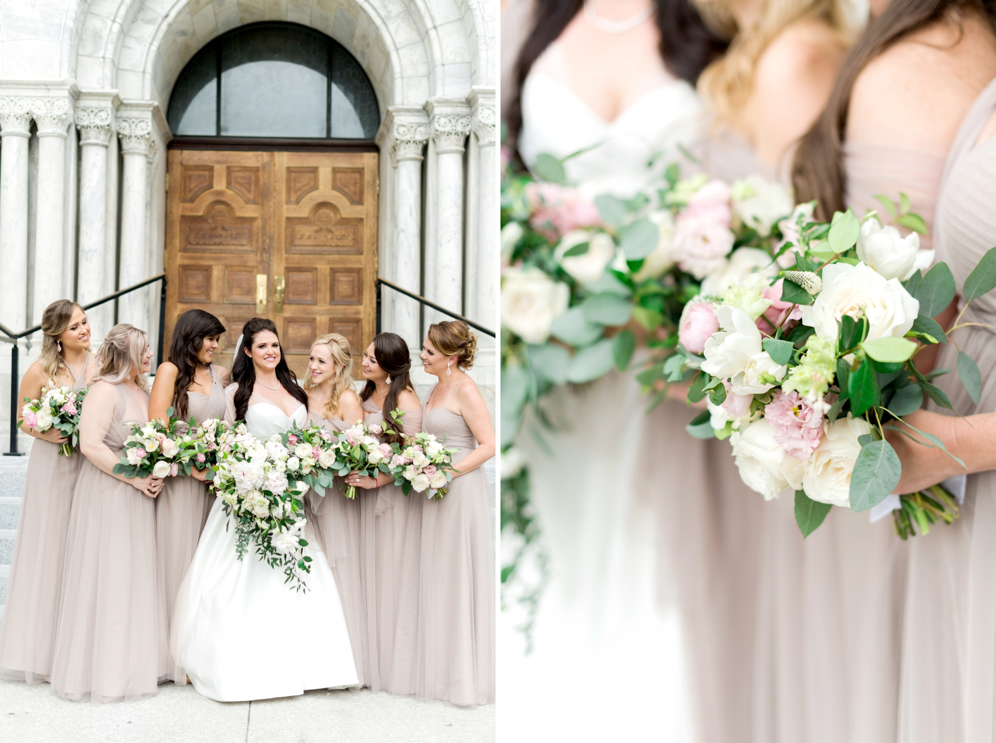 Neutral bridesmaid dresses - Taupe
