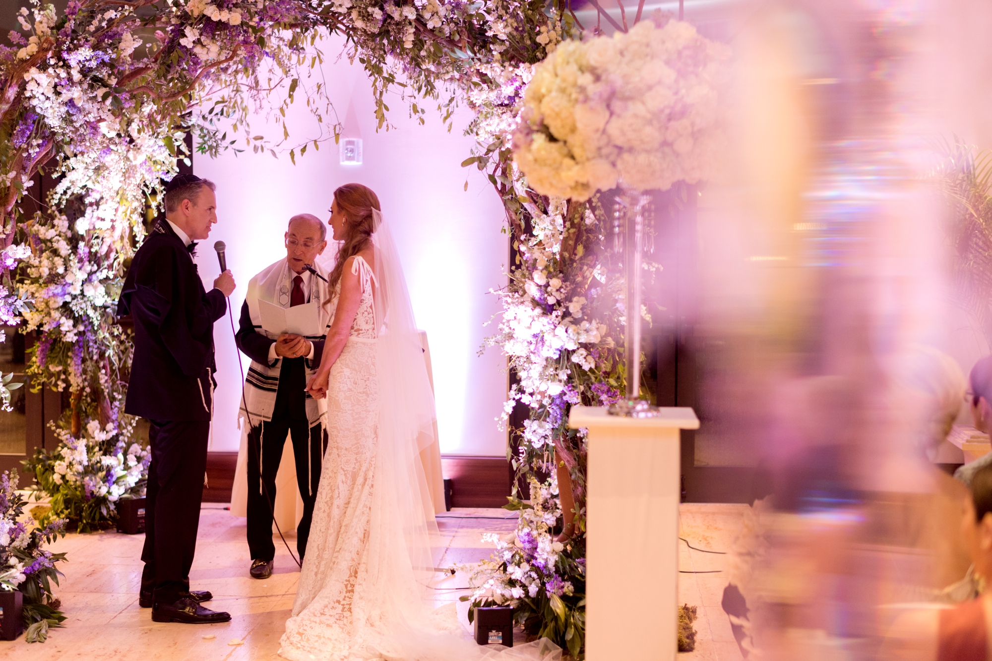indoor wedding ceremony chuppah