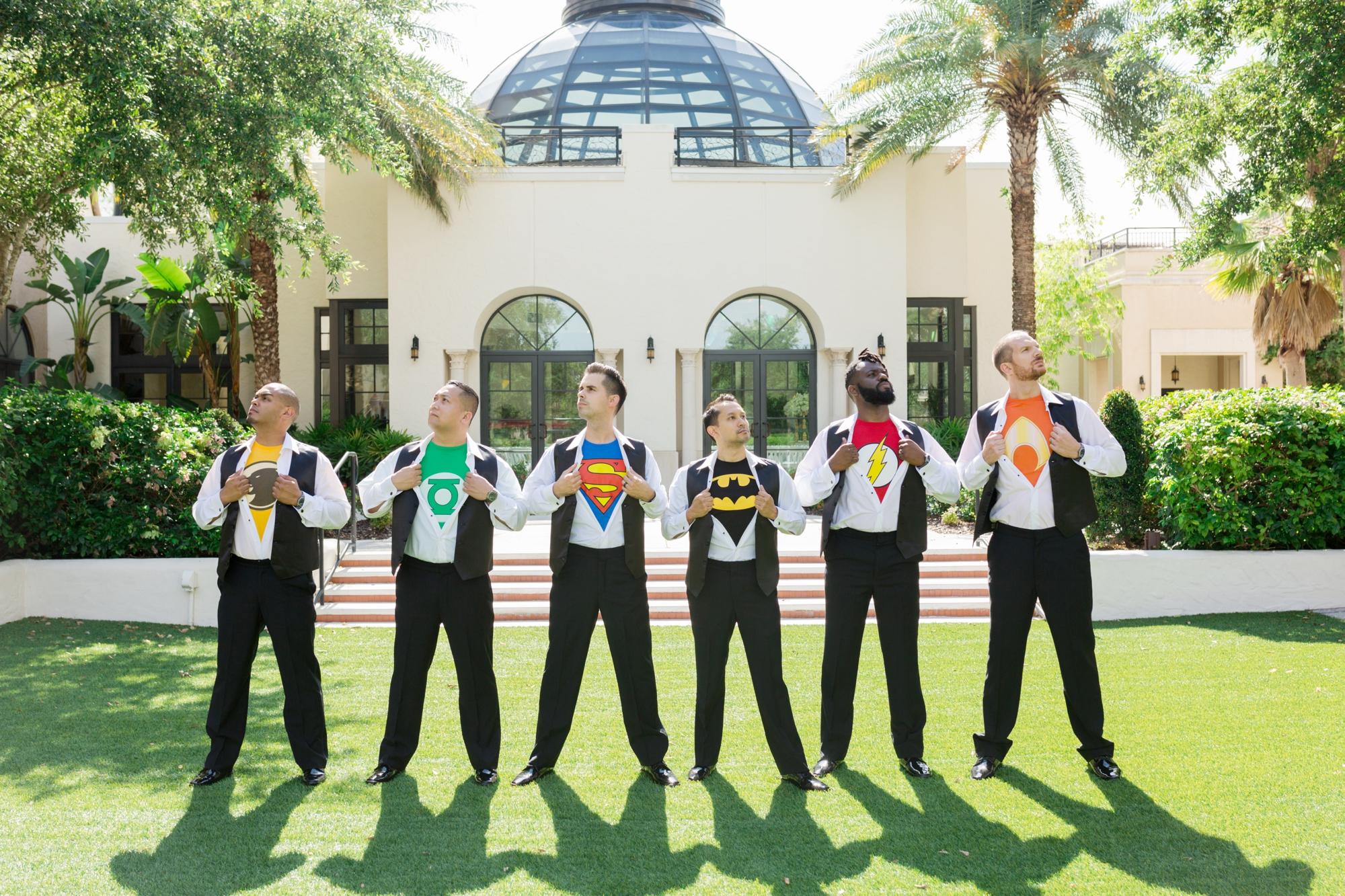 superhero tshirts for groomsmen