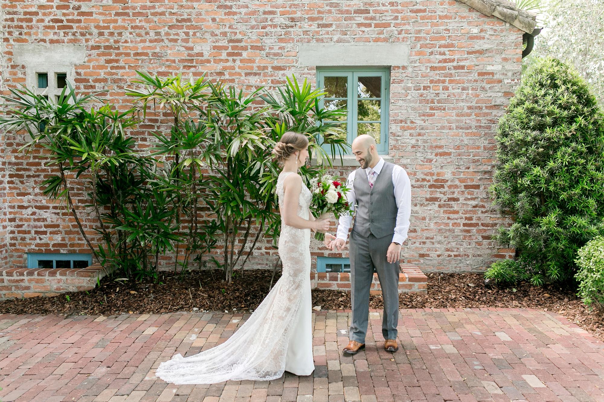 first look orlando wedding