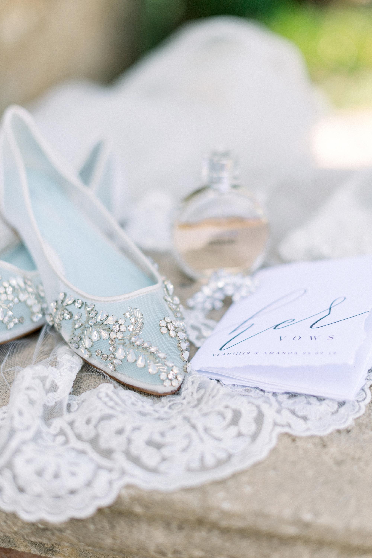 blue bridal details