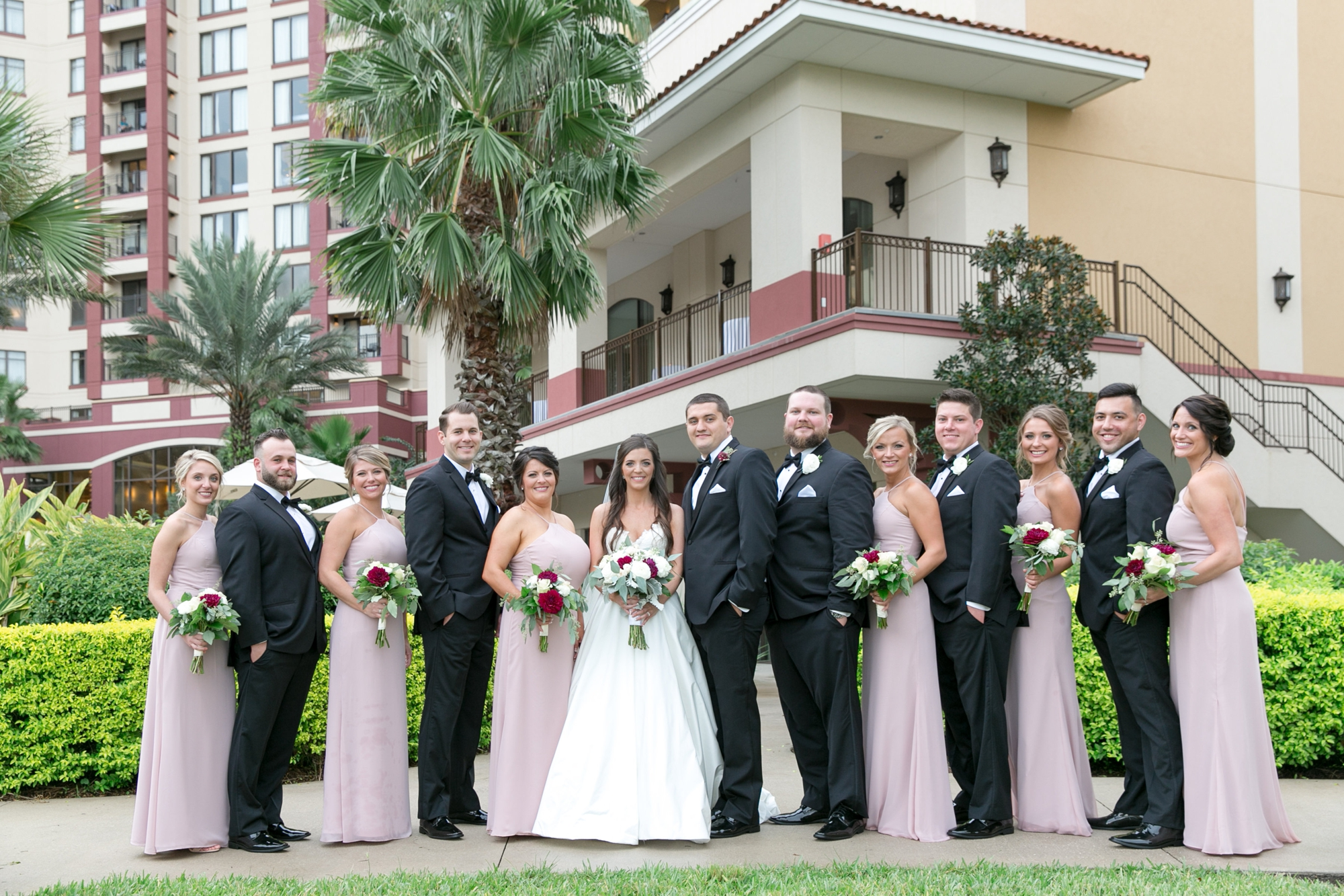 classic wedding party dresses