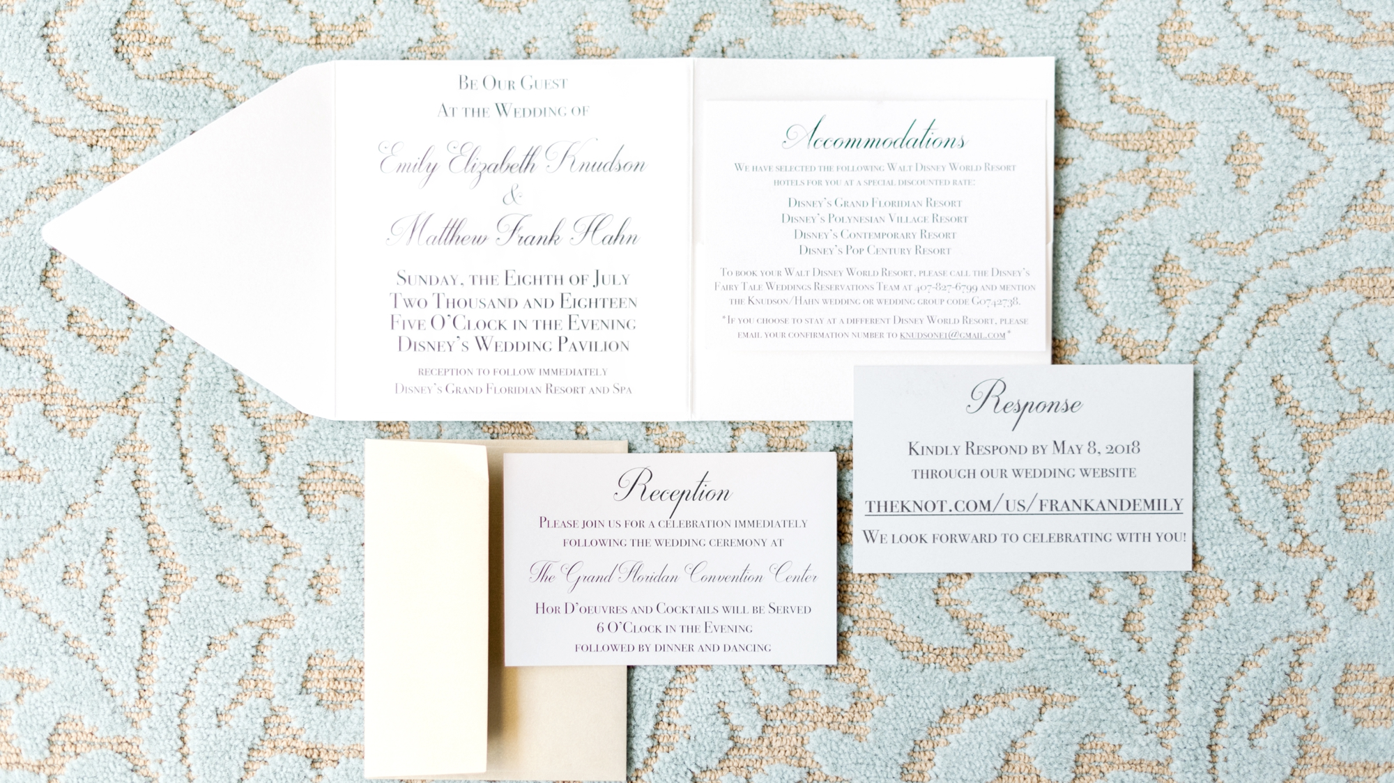 be our guest invitations for disney wedding