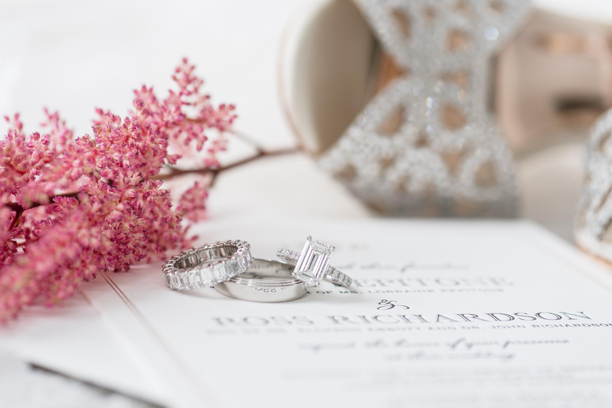 emerald cut wedding ring