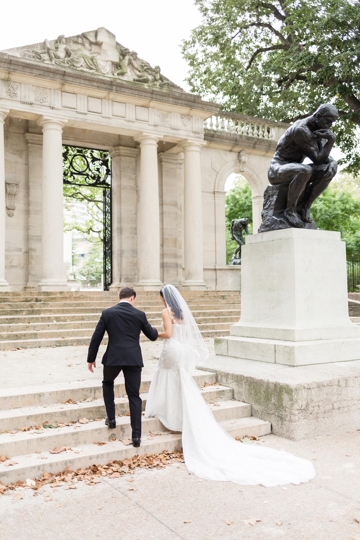 rodin museum wedding photography