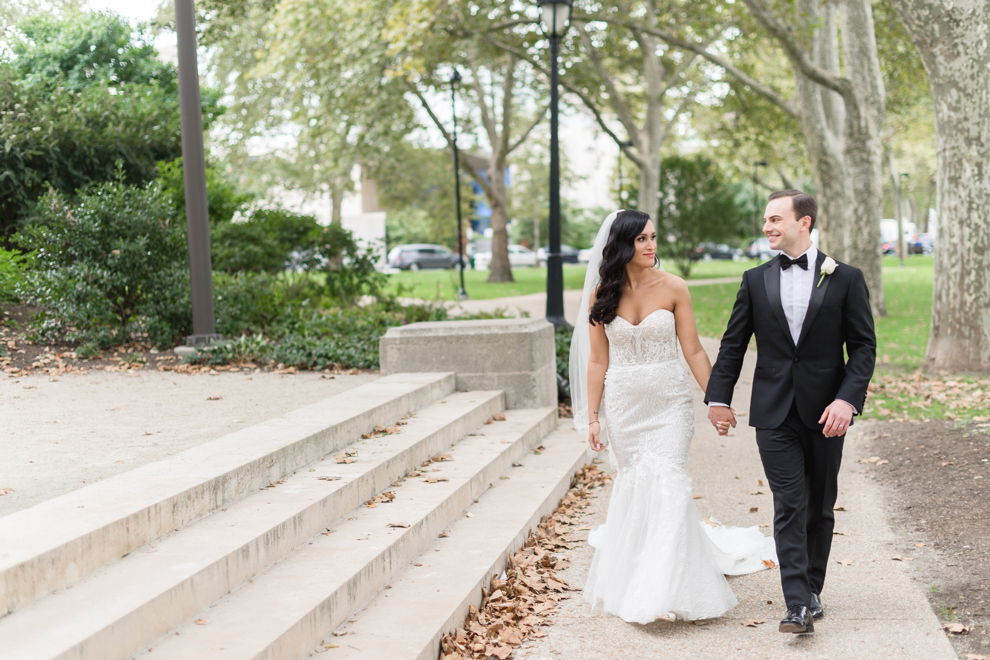 rodin museum - fall wedding in philadelphia